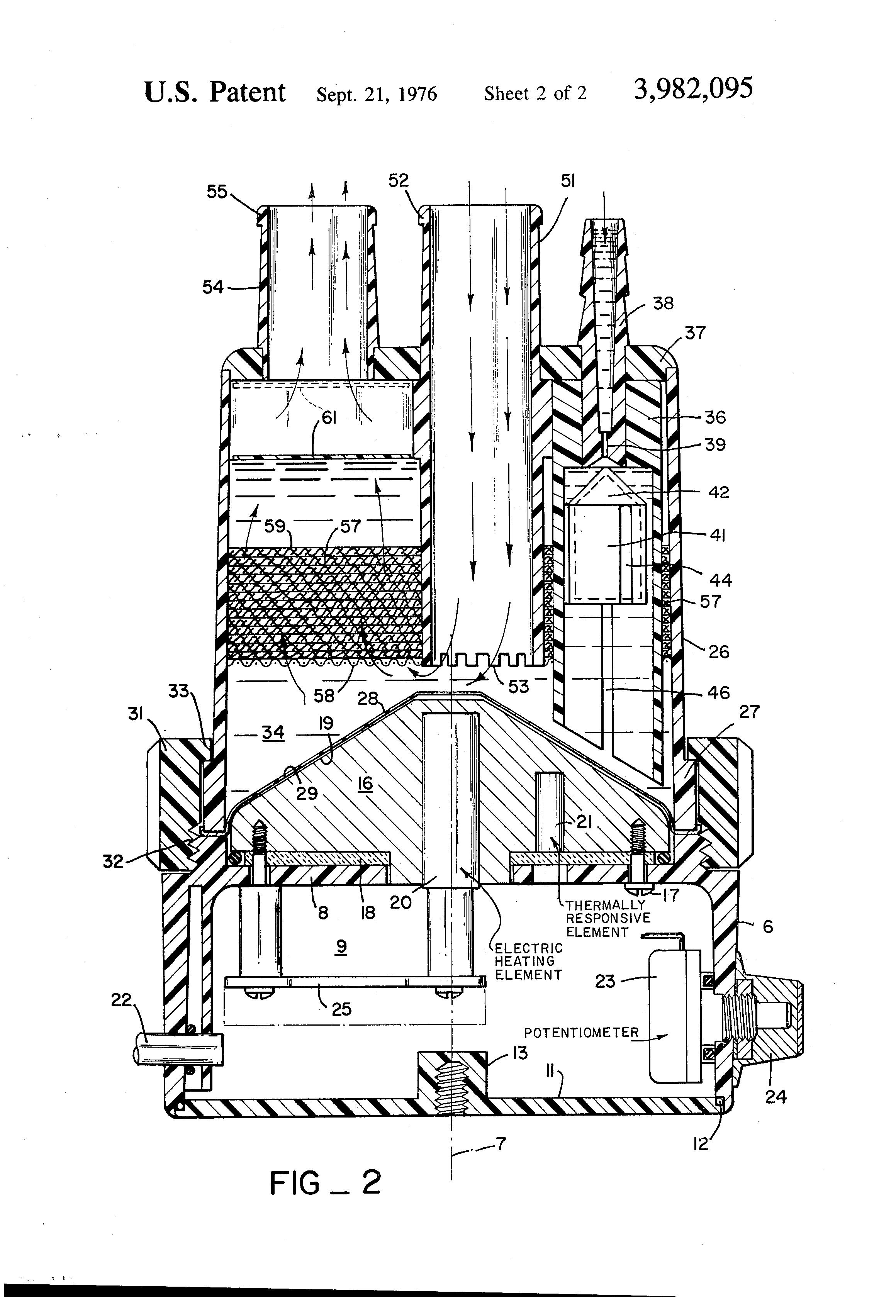 Patent US3982095 Respiratory humidifier   Patents #292929