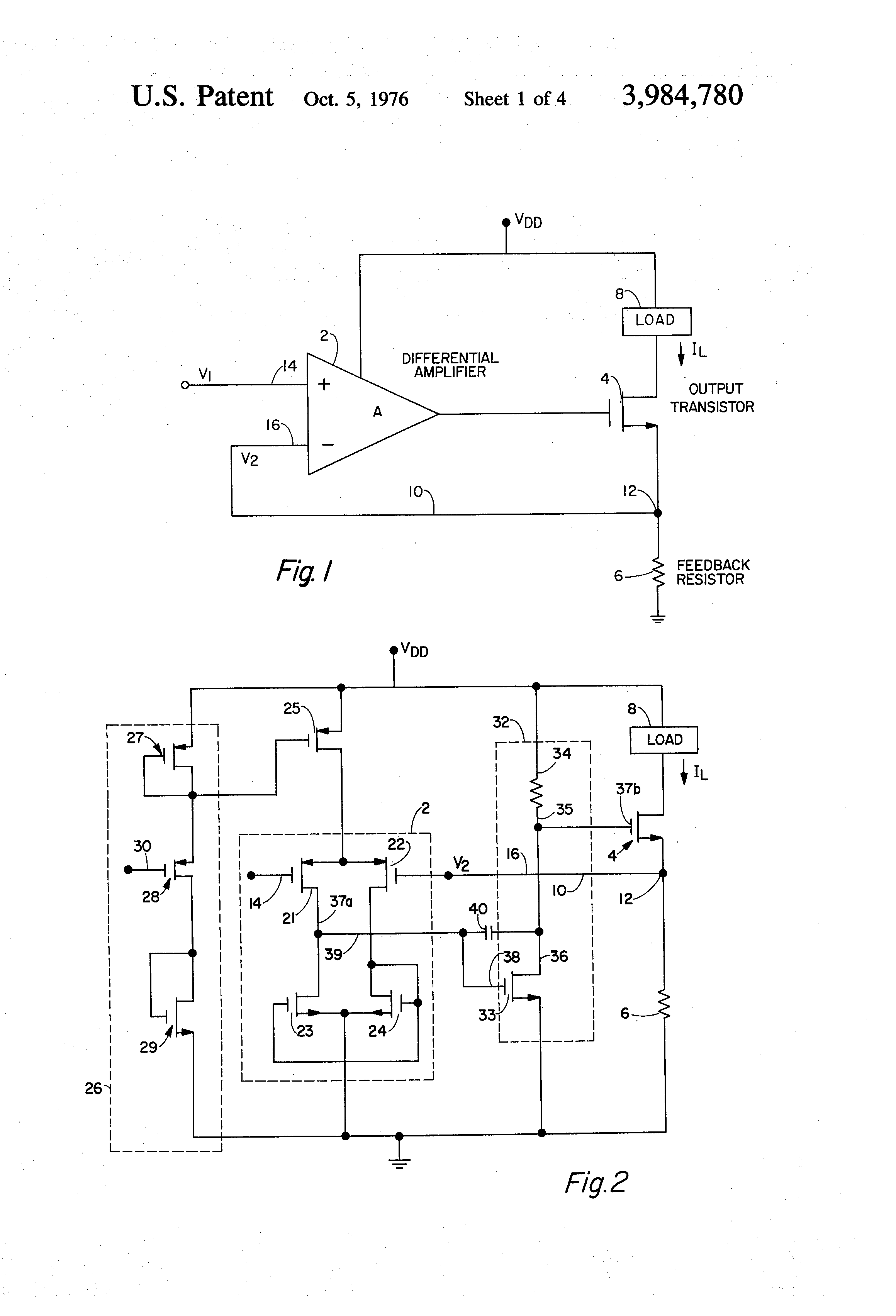 Pictures Of Voltage Controlled Current Source Resistor Patent Us3984780 Cmos