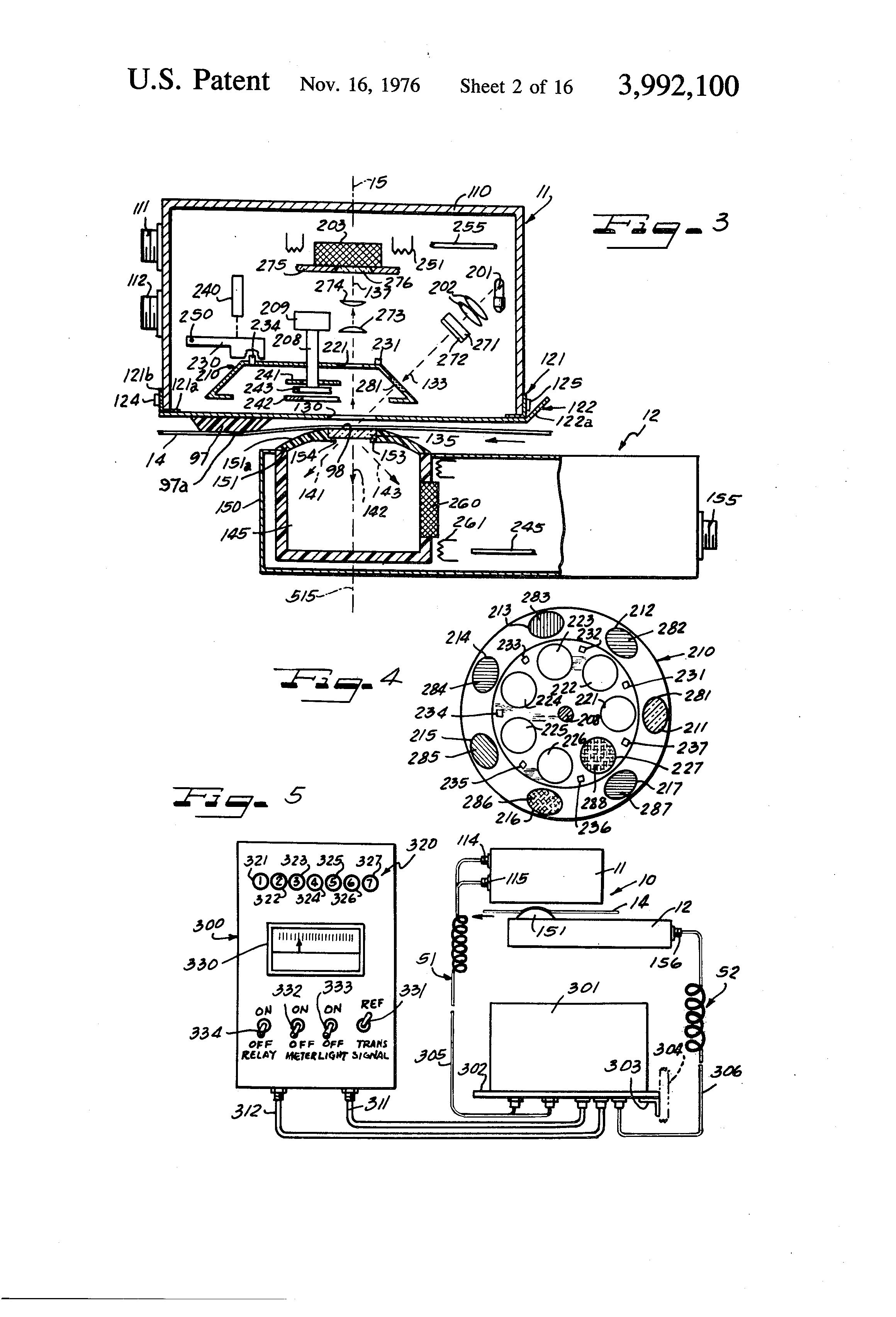 Patente Us3992100 Paper Machine Optical Monitoring Device With Figure 42 Matching Potentiometer Lugs To The Schematic Symbol Patent Drawing