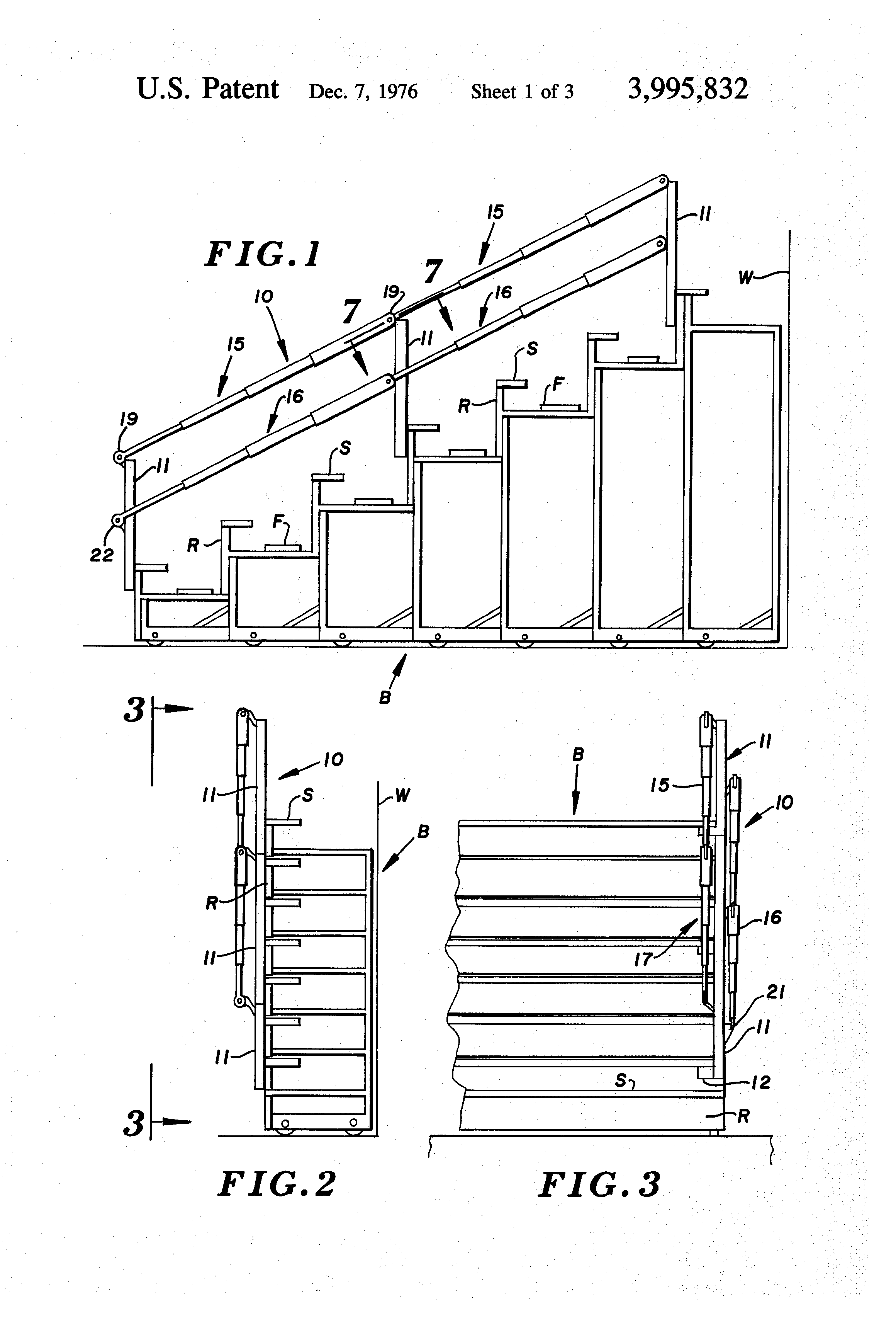 Patent Us3995832 Collapsible Bleacher Rail Google Patents