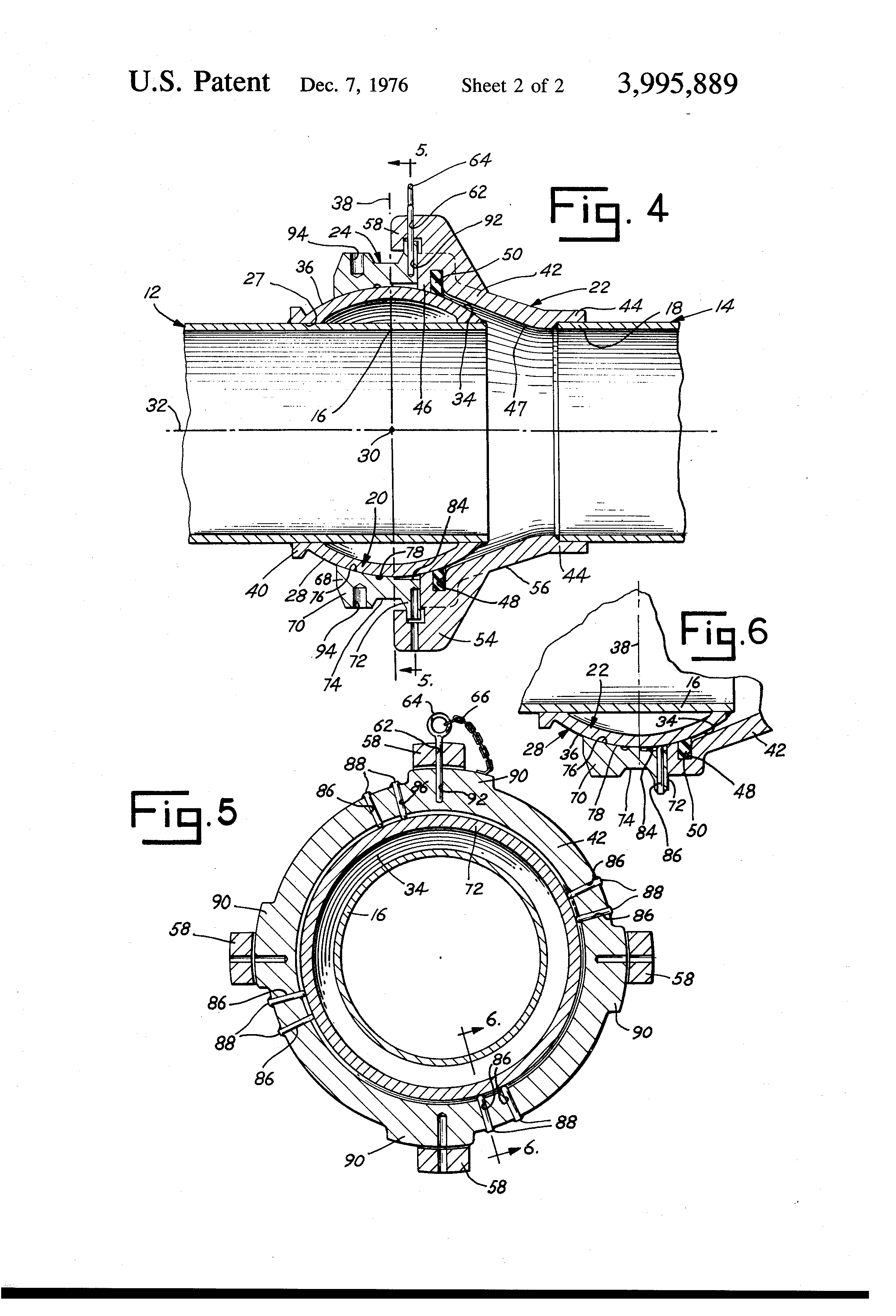 Patent Us3995889 Dredge Floating Pontoon Pipe Line Joint Google