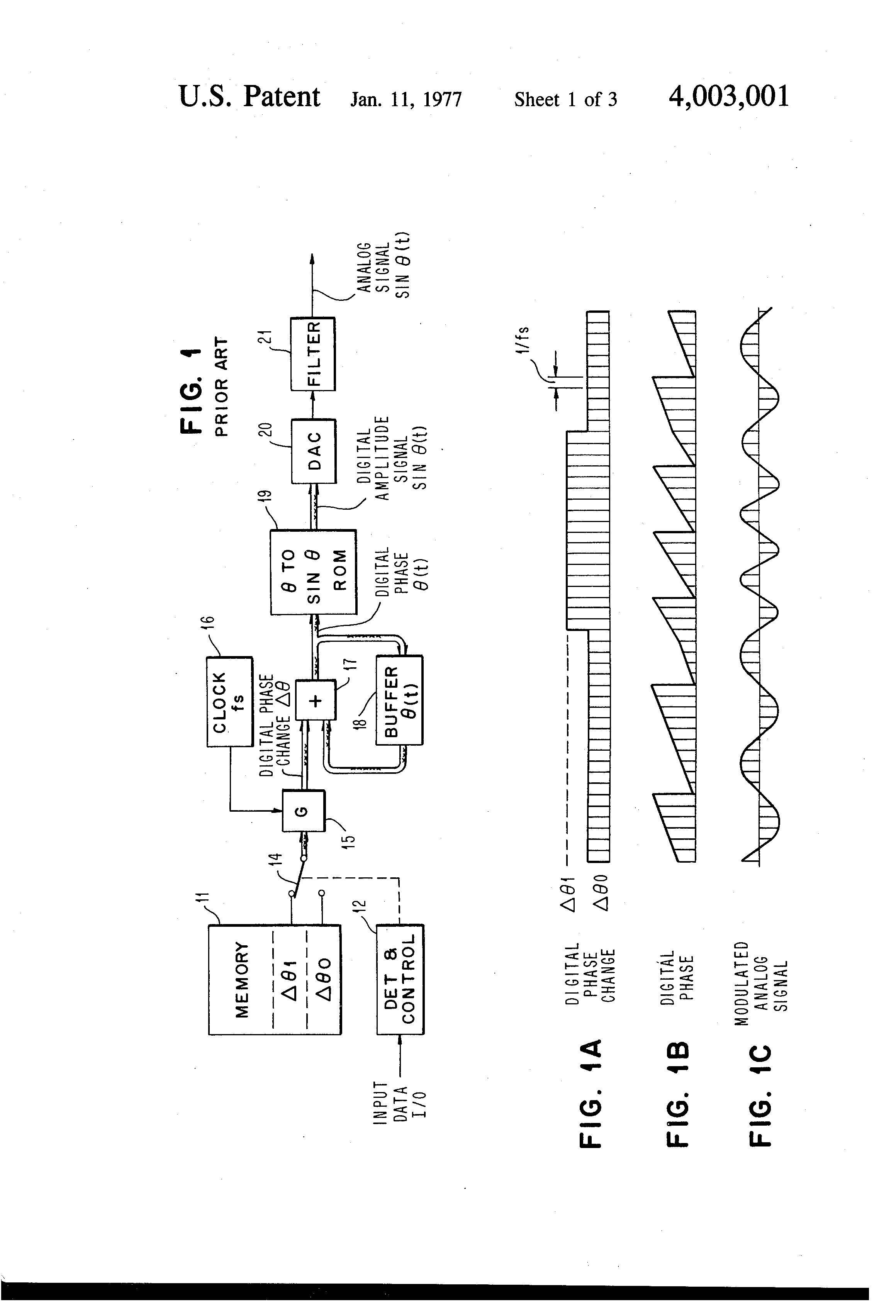 Brevet US4003001 - Multi-line, multi-mode modulator using bandwidth