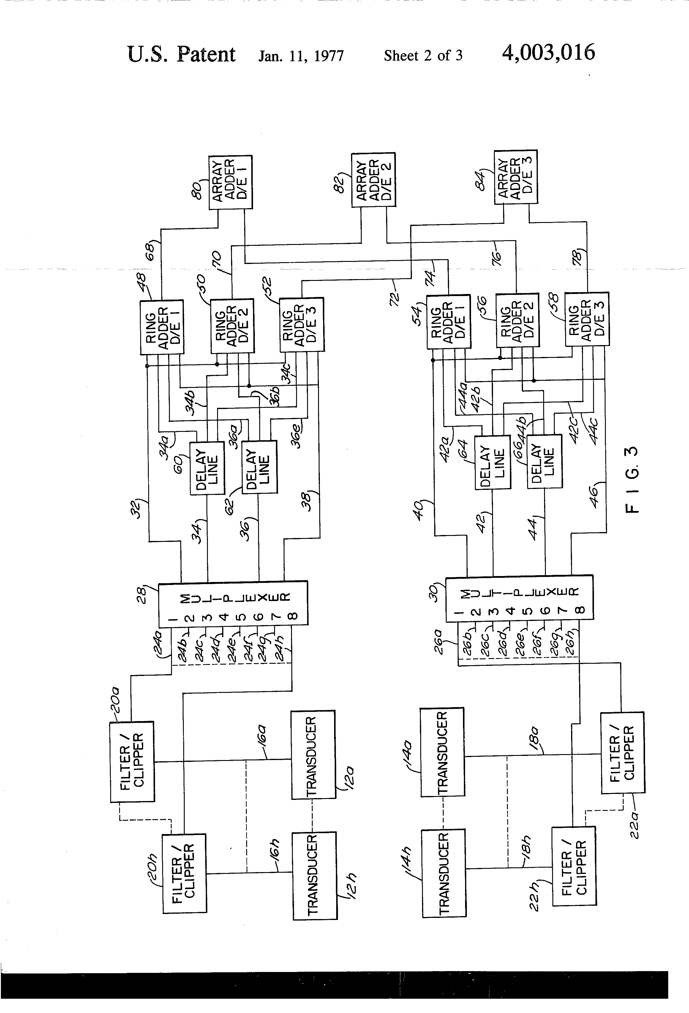 Patent US4003016 - Digital beamforming system - Google Patents