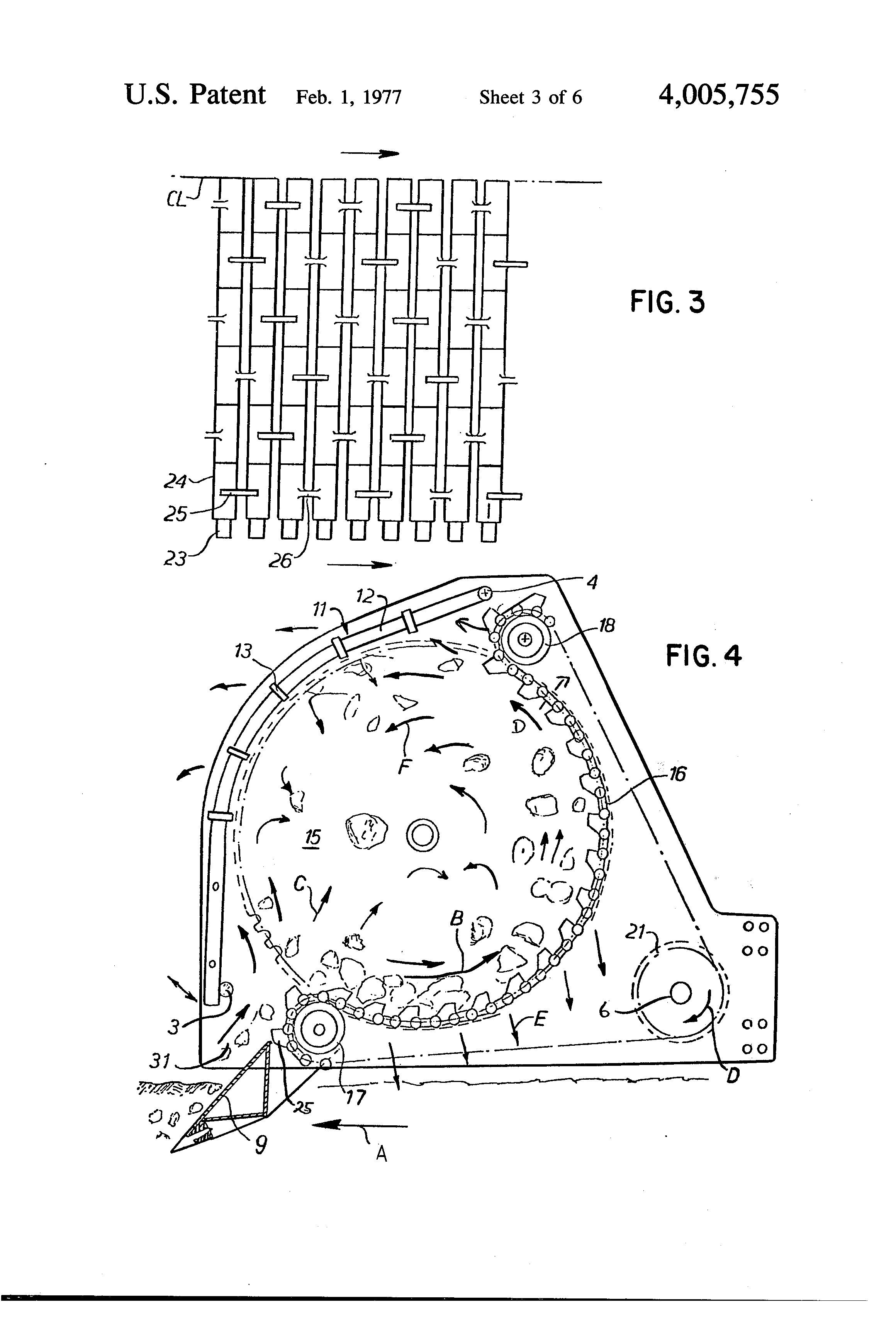 Patent Us4005755 Machine For Rock Removal And Soil Cultivation 12 5 Hp Murray Riding Lawn Mower Wiring Diagram Drawing