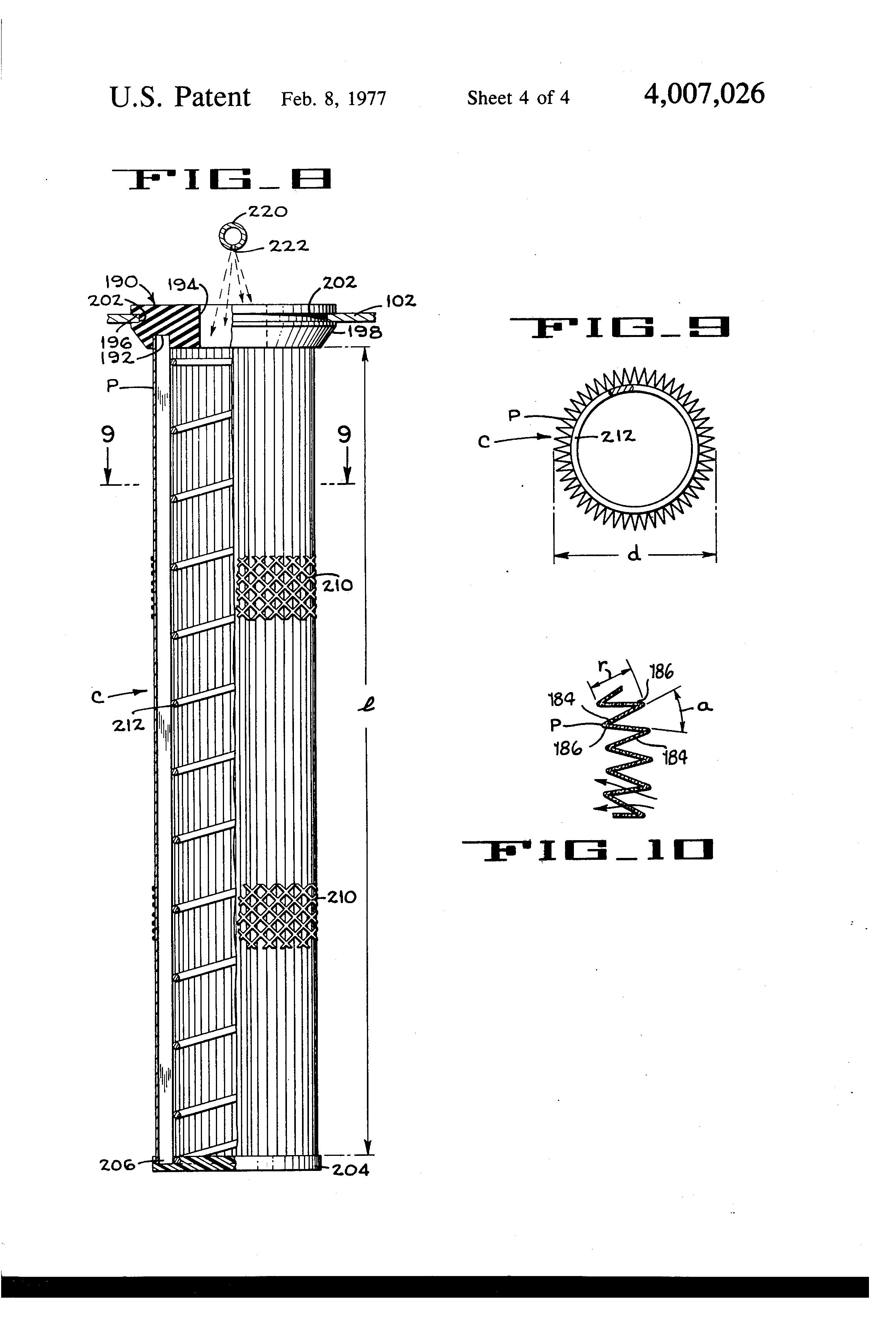 Patent Us4007026 Compact Dust Filter System Google Patents