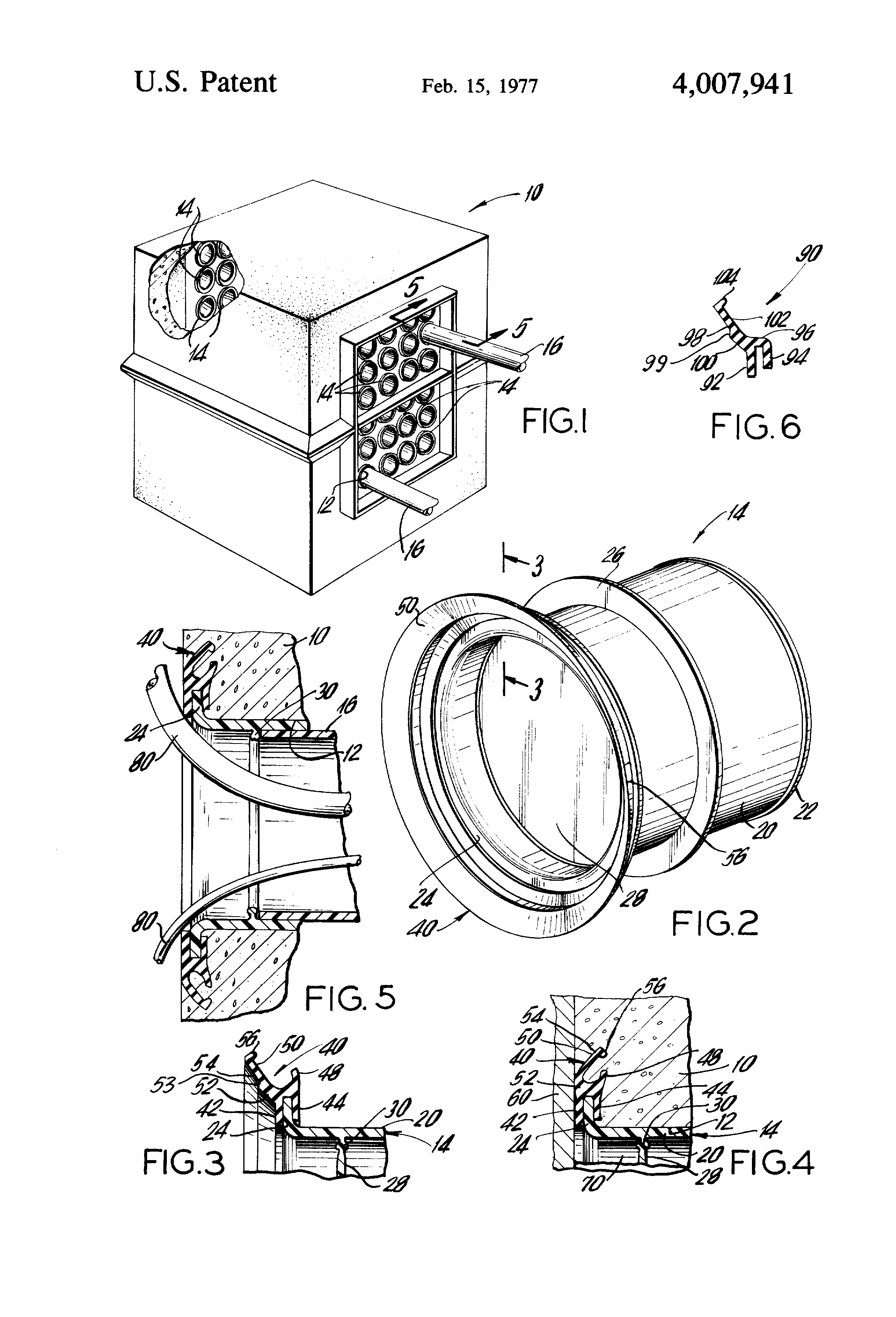 patent us4007941 - seal for duct terminator