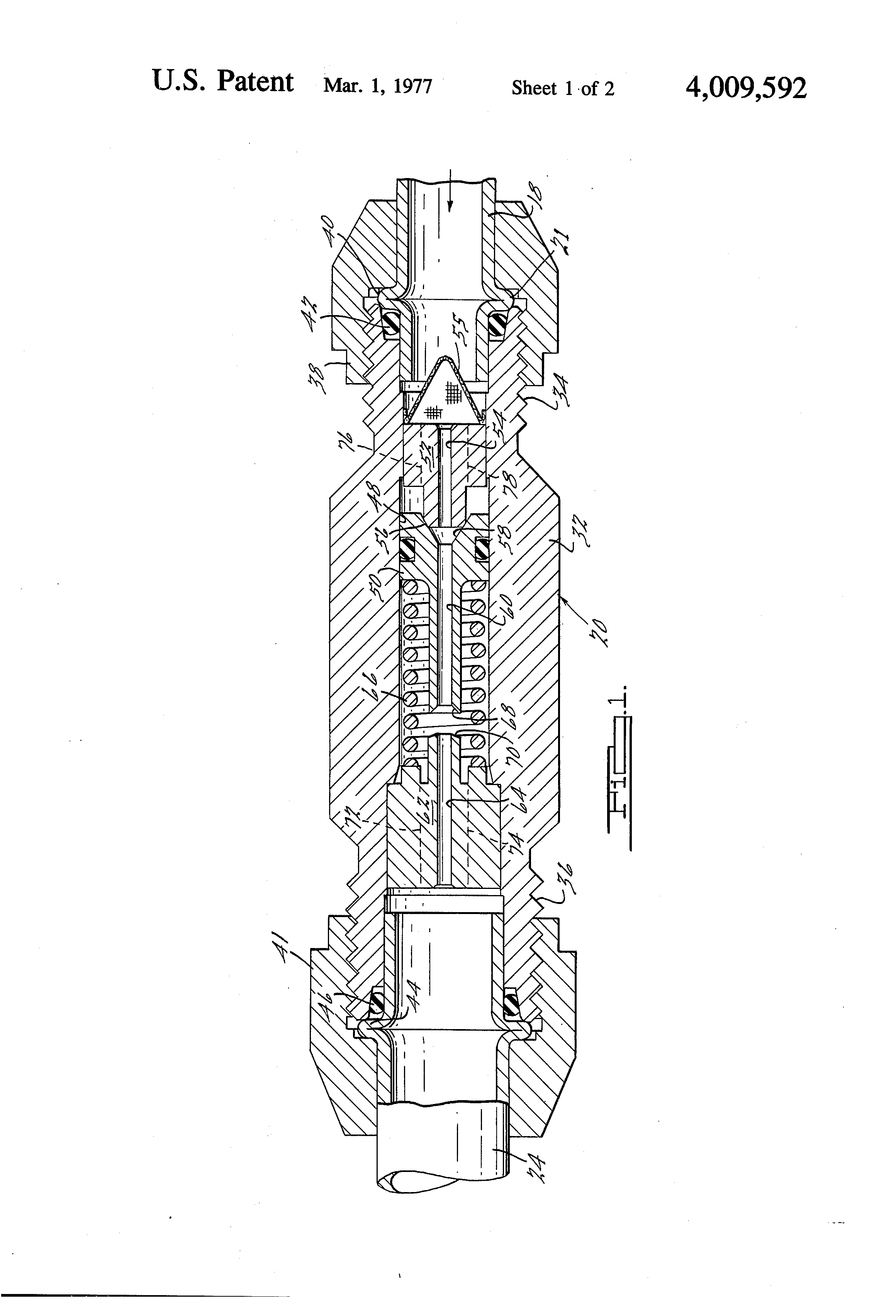 Patent Us4009592 Multiple Stage Expansion Valve For An Automotive Diagram Drawing