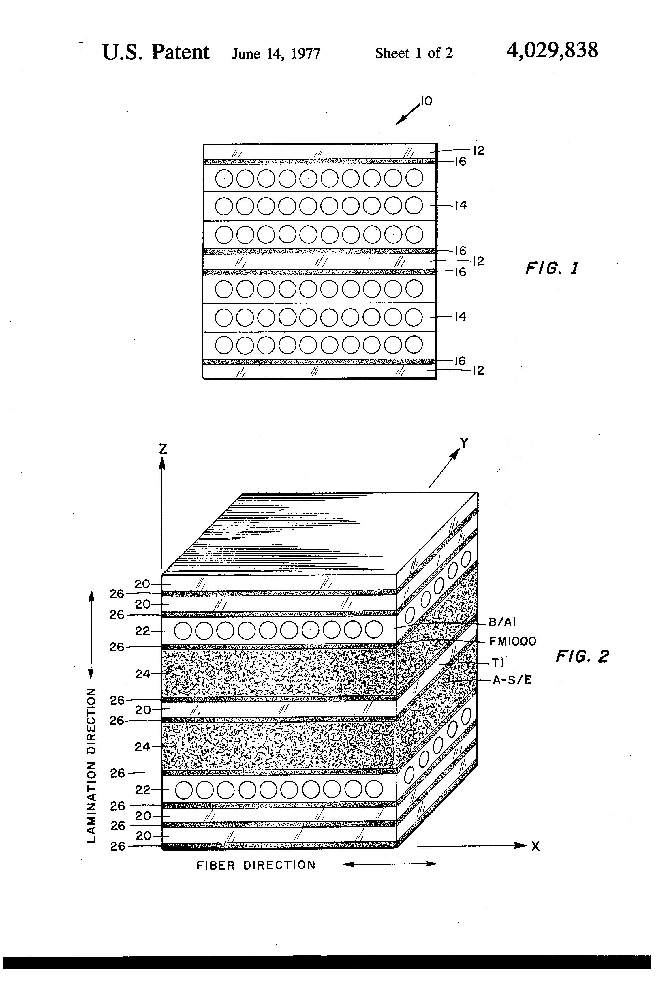 Patent Us4029838 Hybrid Composite Laminate Structures