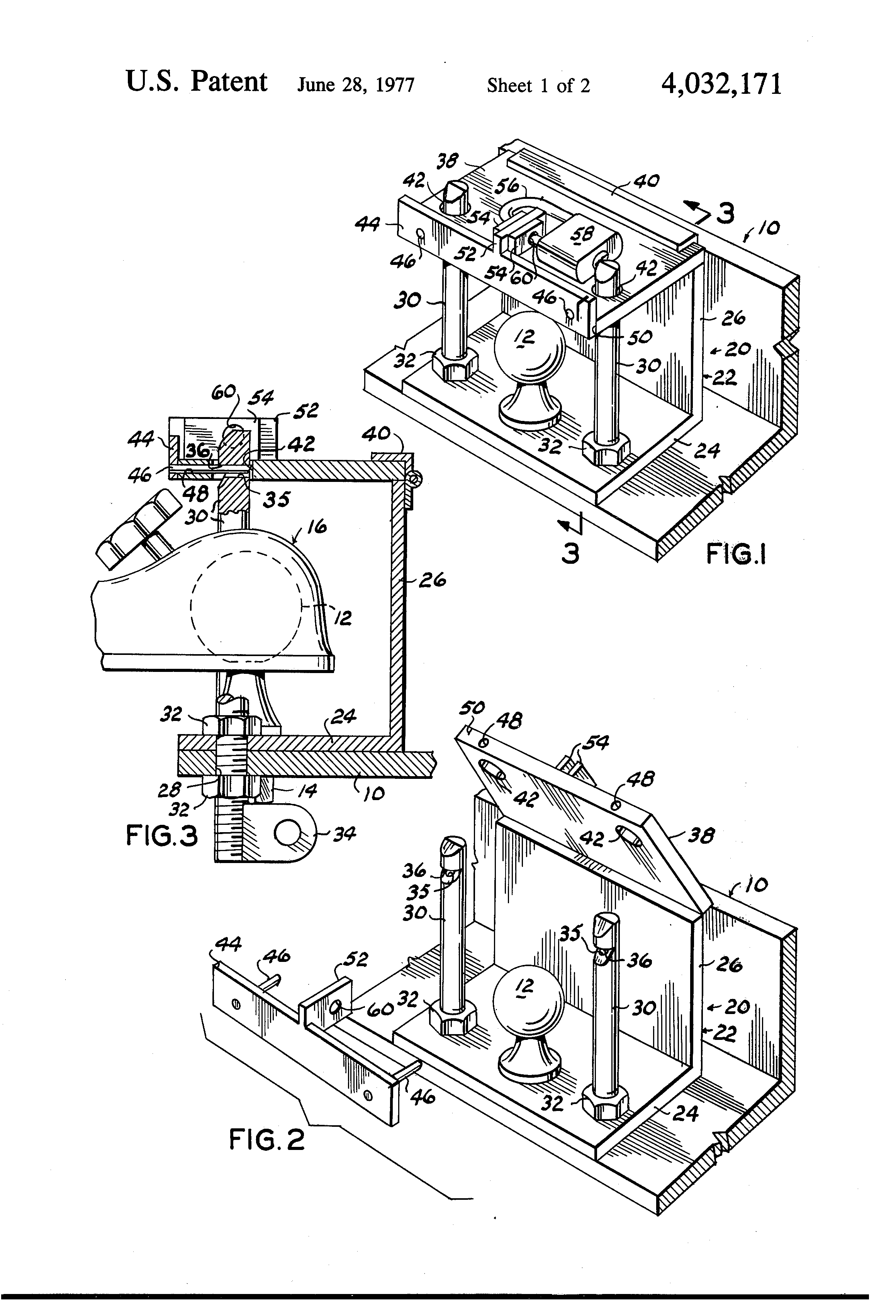 Patent Us4032171 Trailer Hitch Locking Device Google Patents Coupler Diagram Drawing