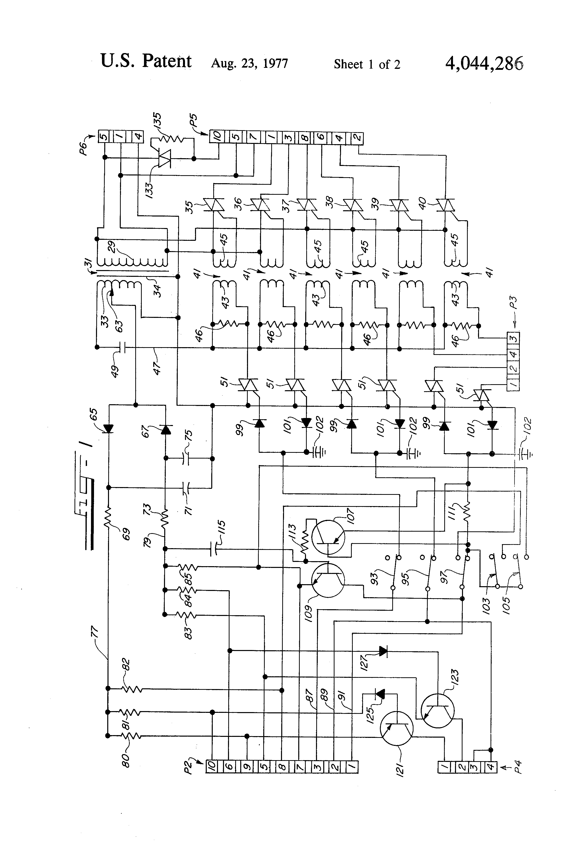 US4044286 1 hospital bed wiring diagram wiring diagram and schematic design wiring diagram for cm truck bed at aneh.co