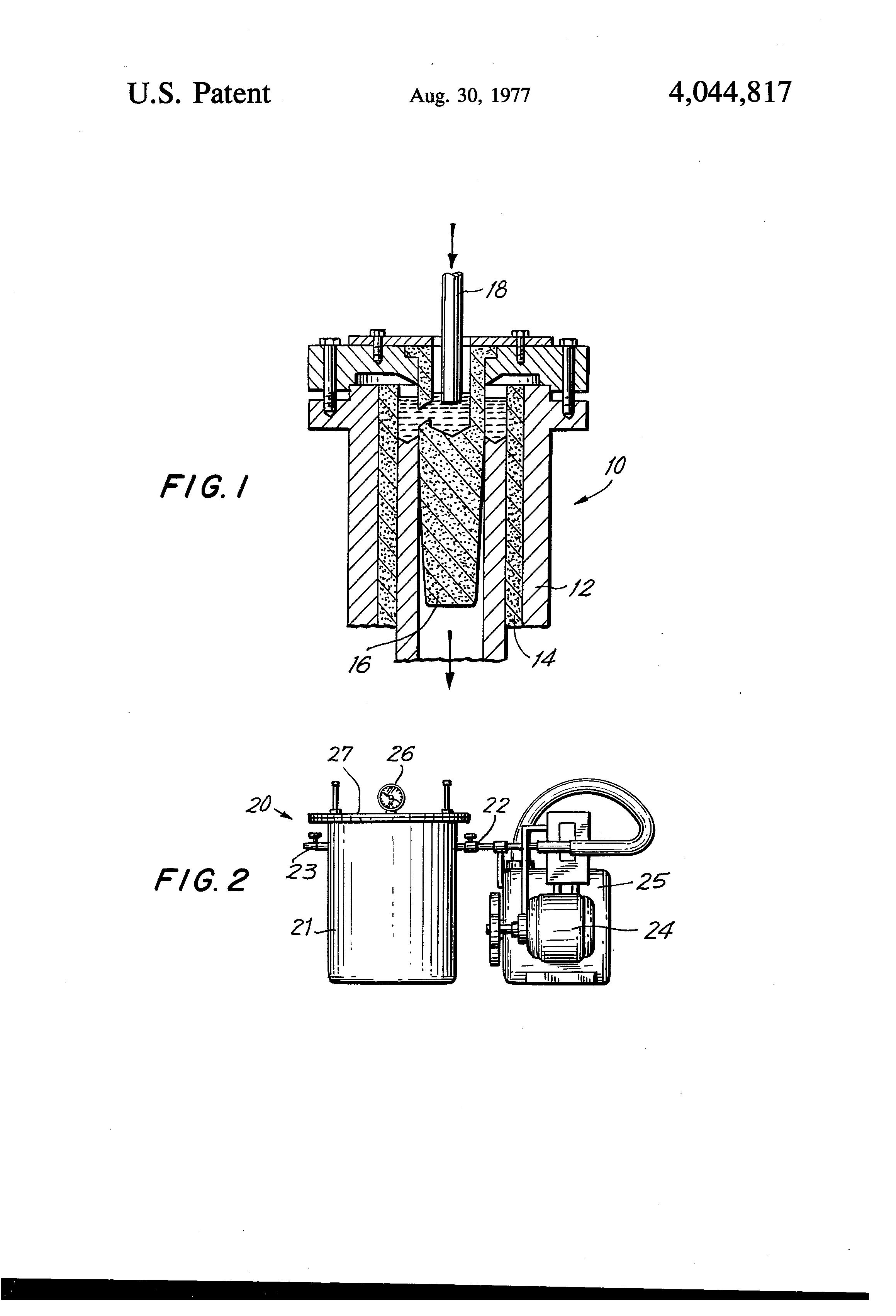 Patent US4044817 - Continuous casting method using graphite