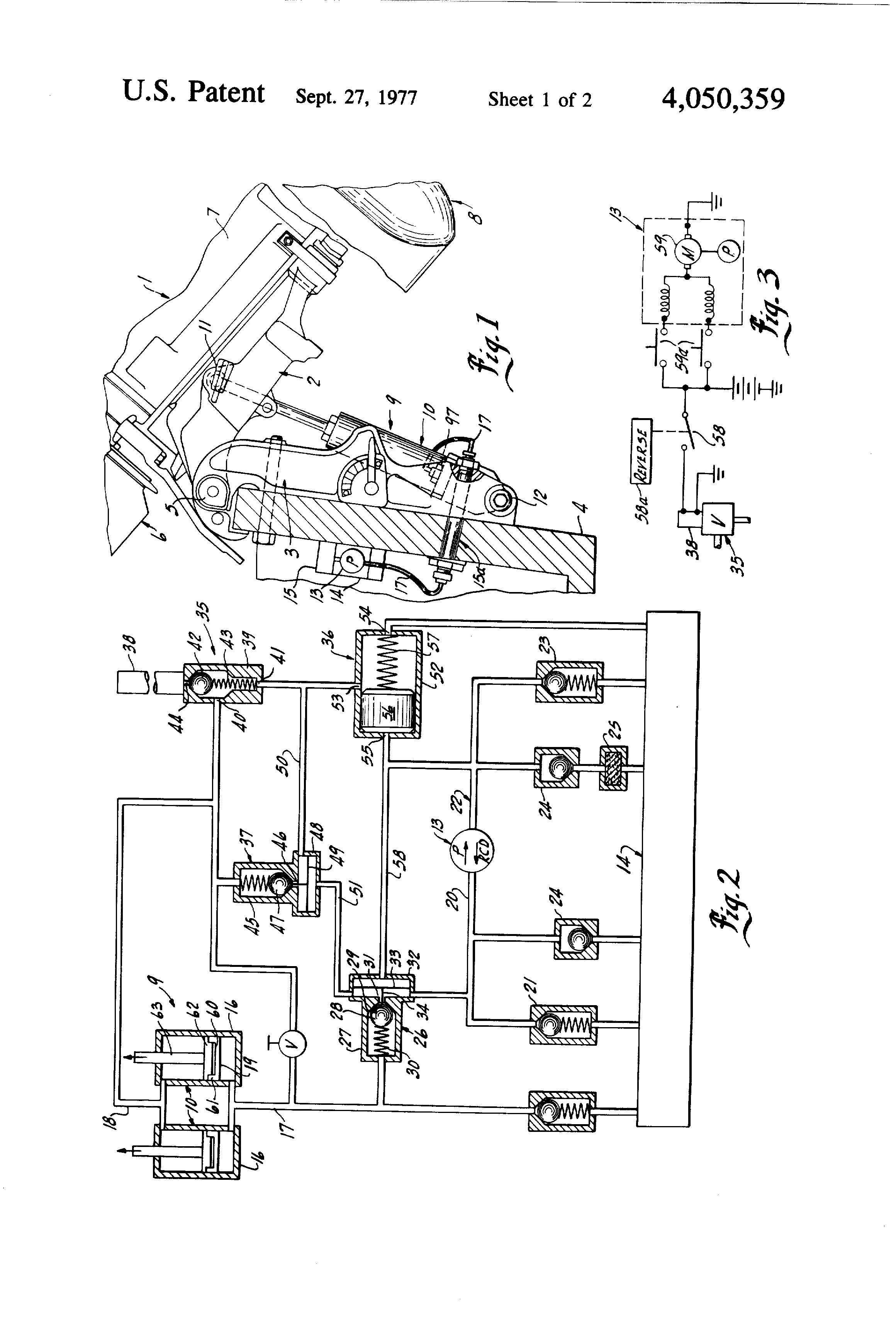 patent us4050359 - hydraulic power trim and power tilt system supply