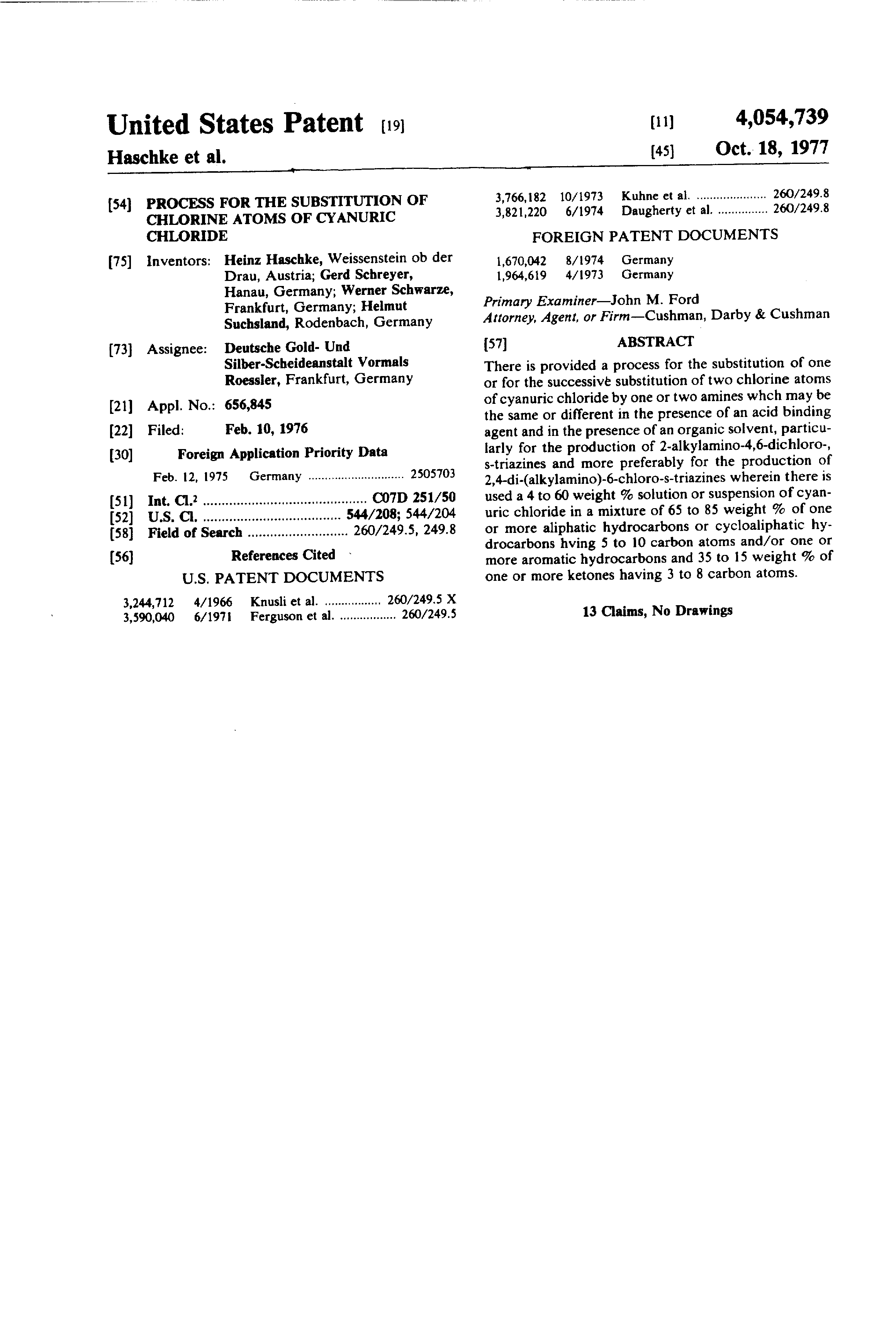 Patent us4054739 process for the substitution of chlorine atoms patent drawing biocorpaavc
