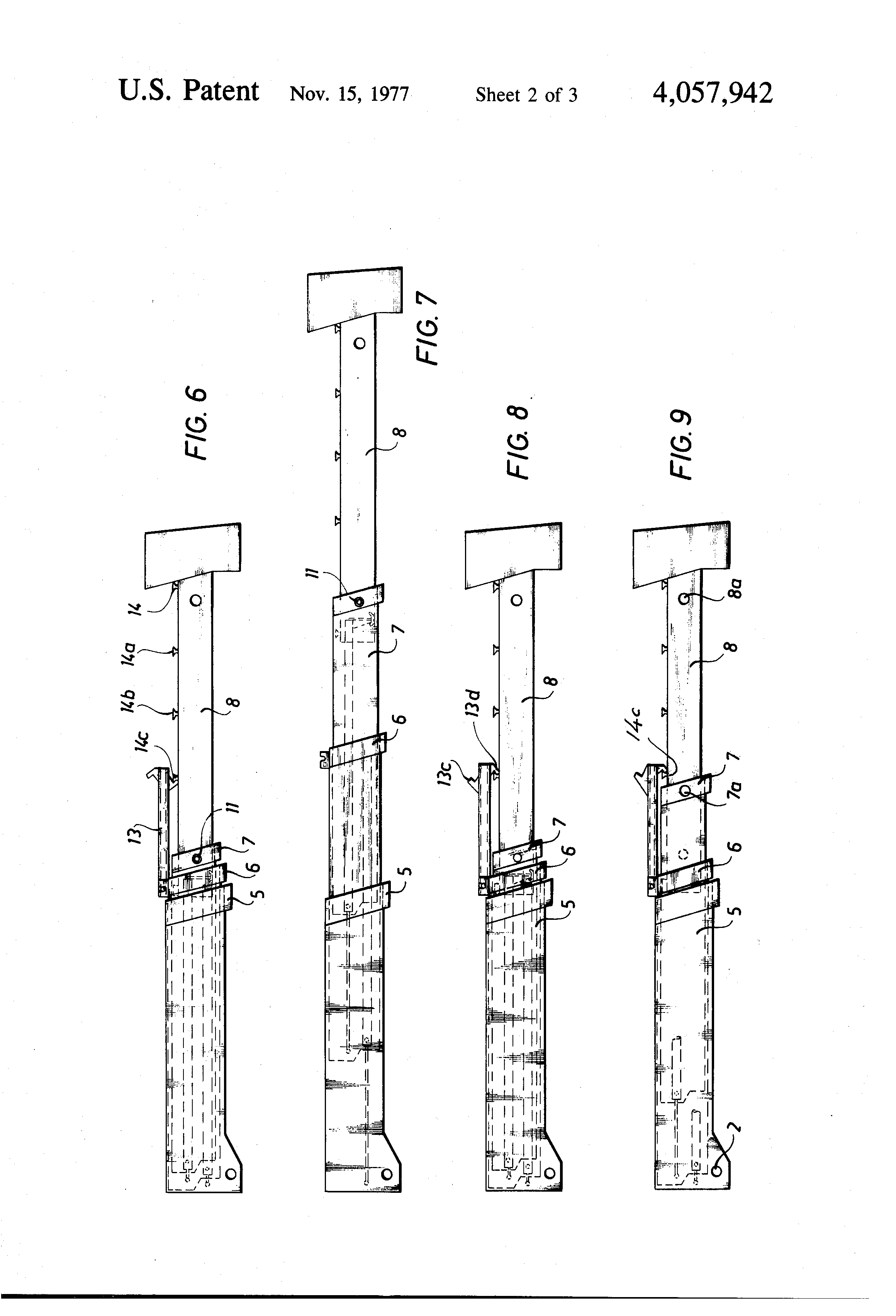 Patent Us4057942 Telescopic Boom With Hydraulic
