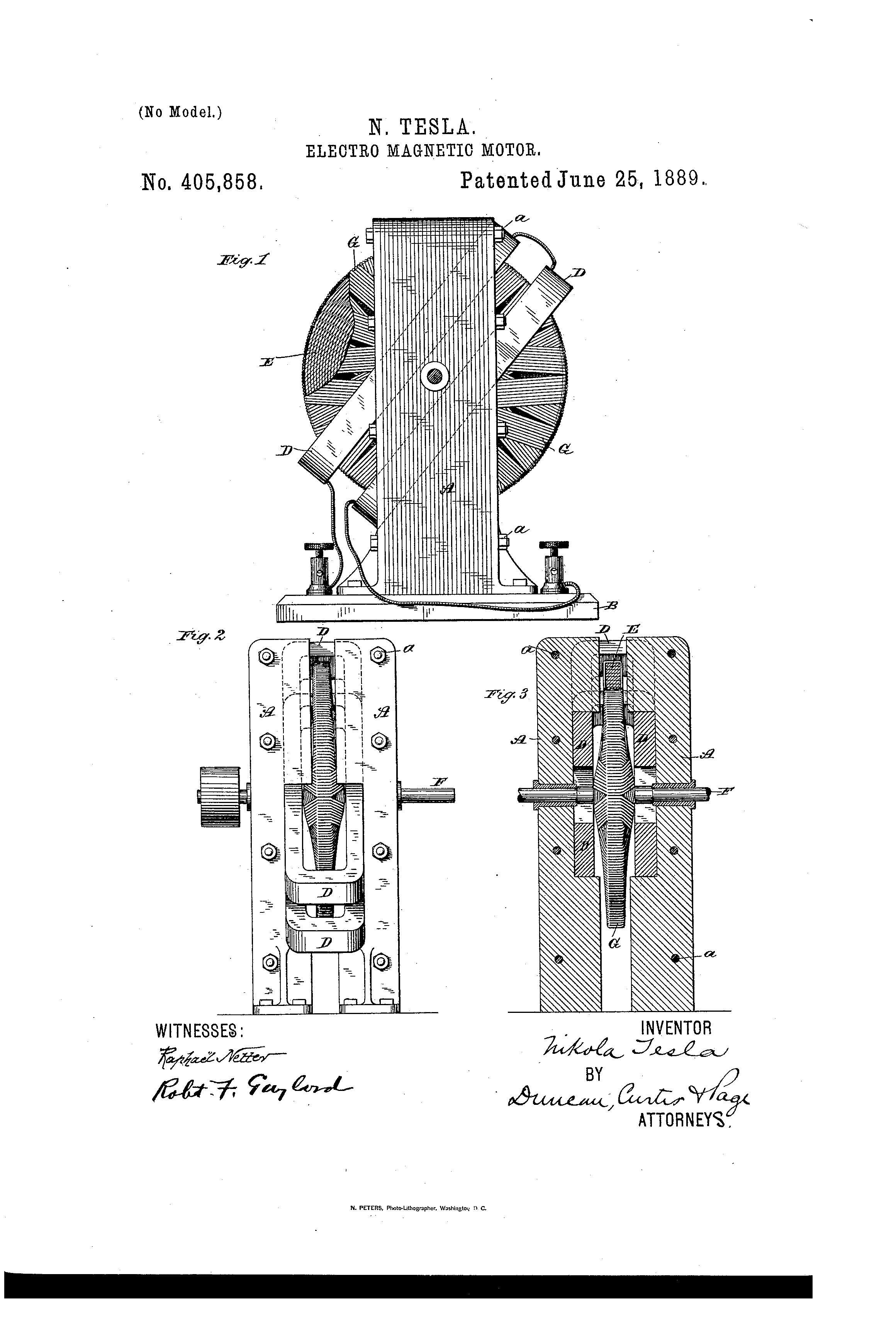 patent us405858 - nikola tesla