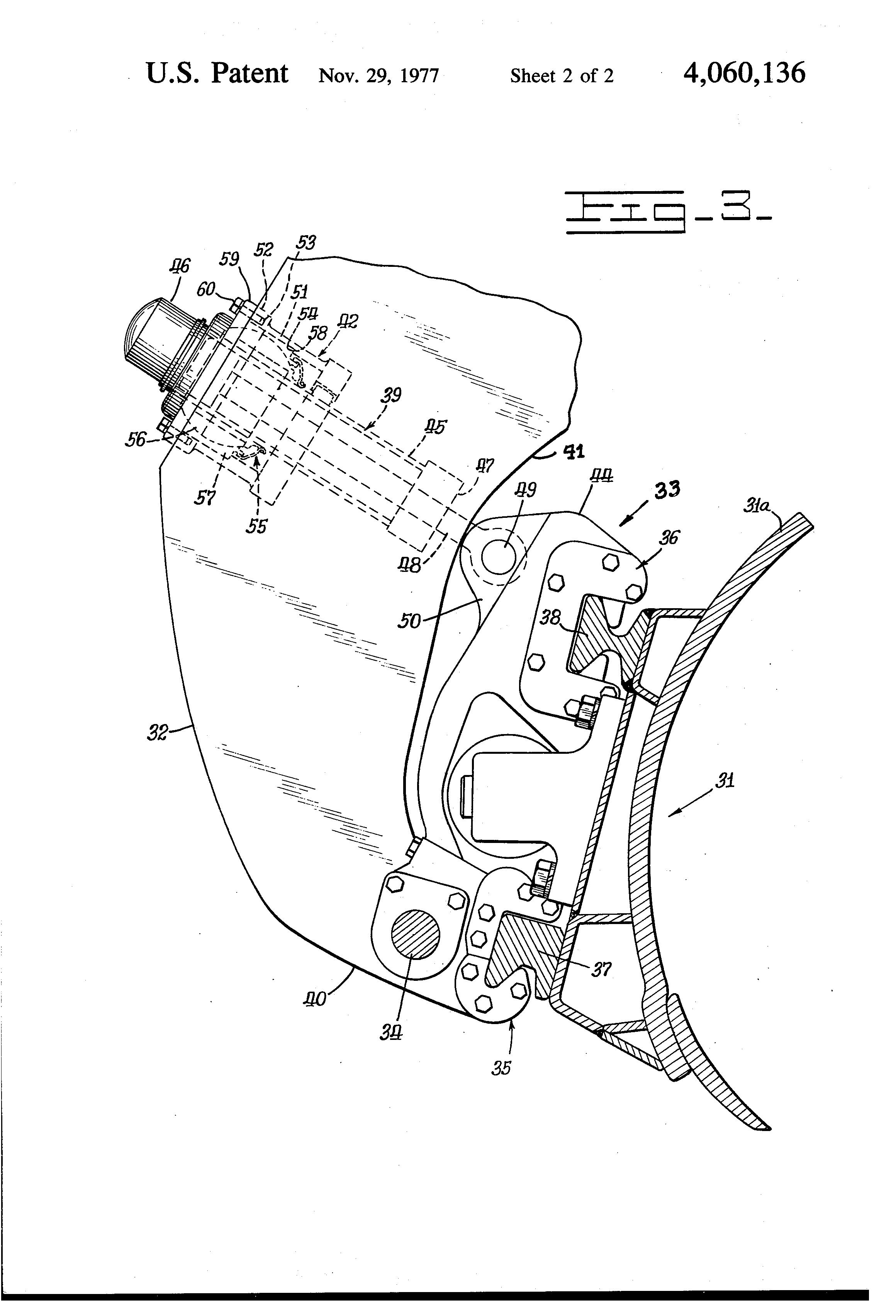 Patent US4060136 - Motor grader blade mounting and tilt