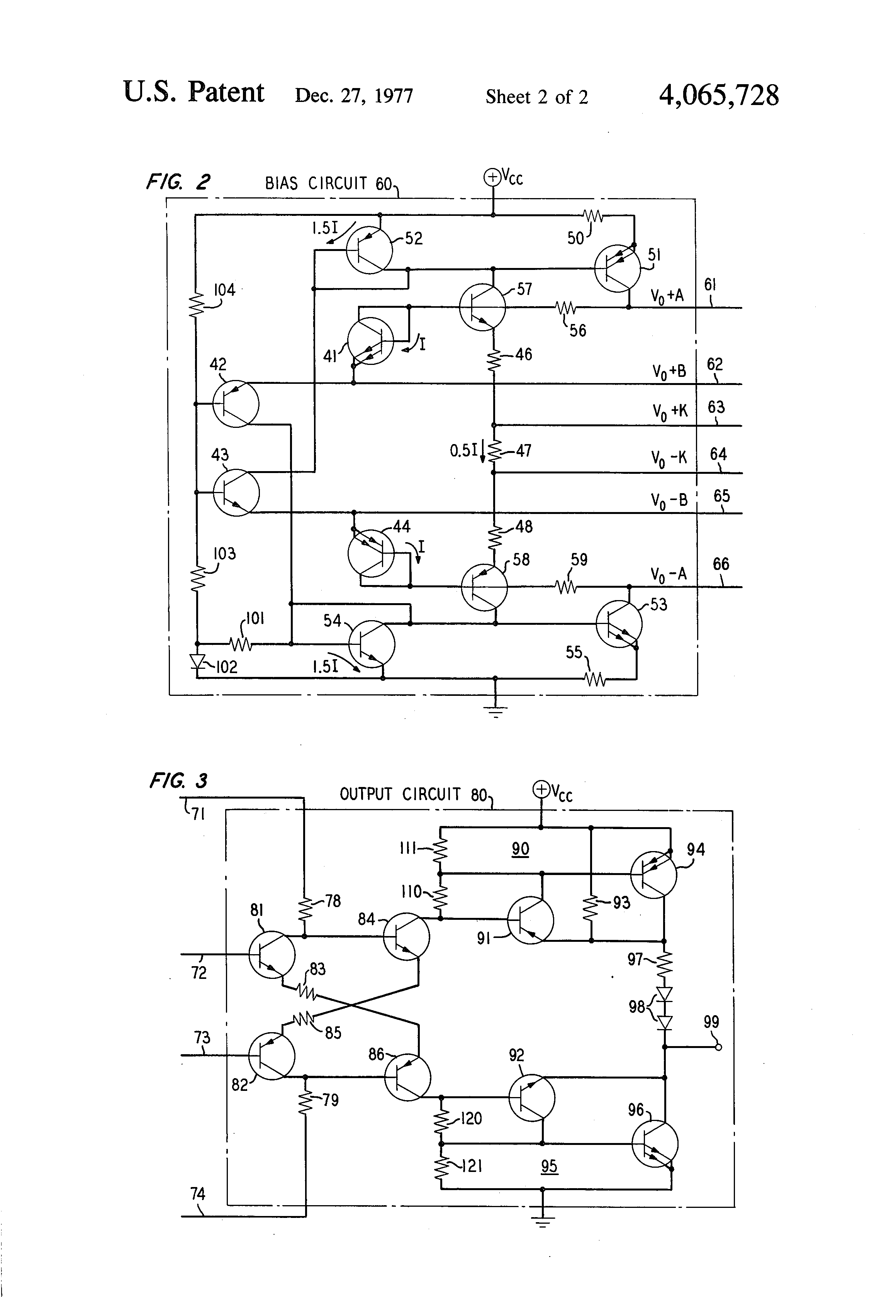 Patent Us4065728 Crystal Oscillator Including A Pair Of Push Pull Circuit Is Similar To The Transistor Version Hartley Drawing