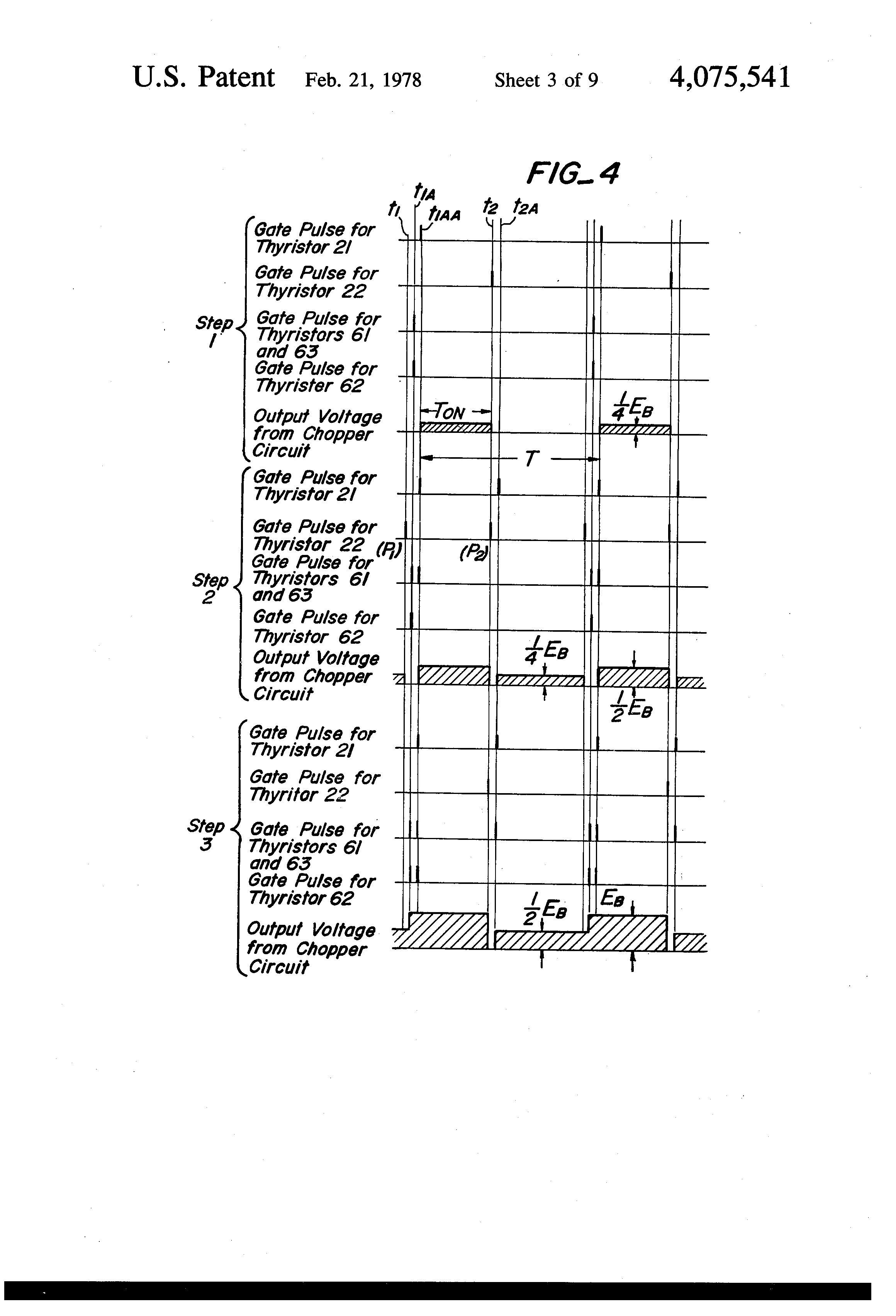 Brevet Us4075541 Direct Current Motor Control Device For Use In Thyristors Patent Drawing