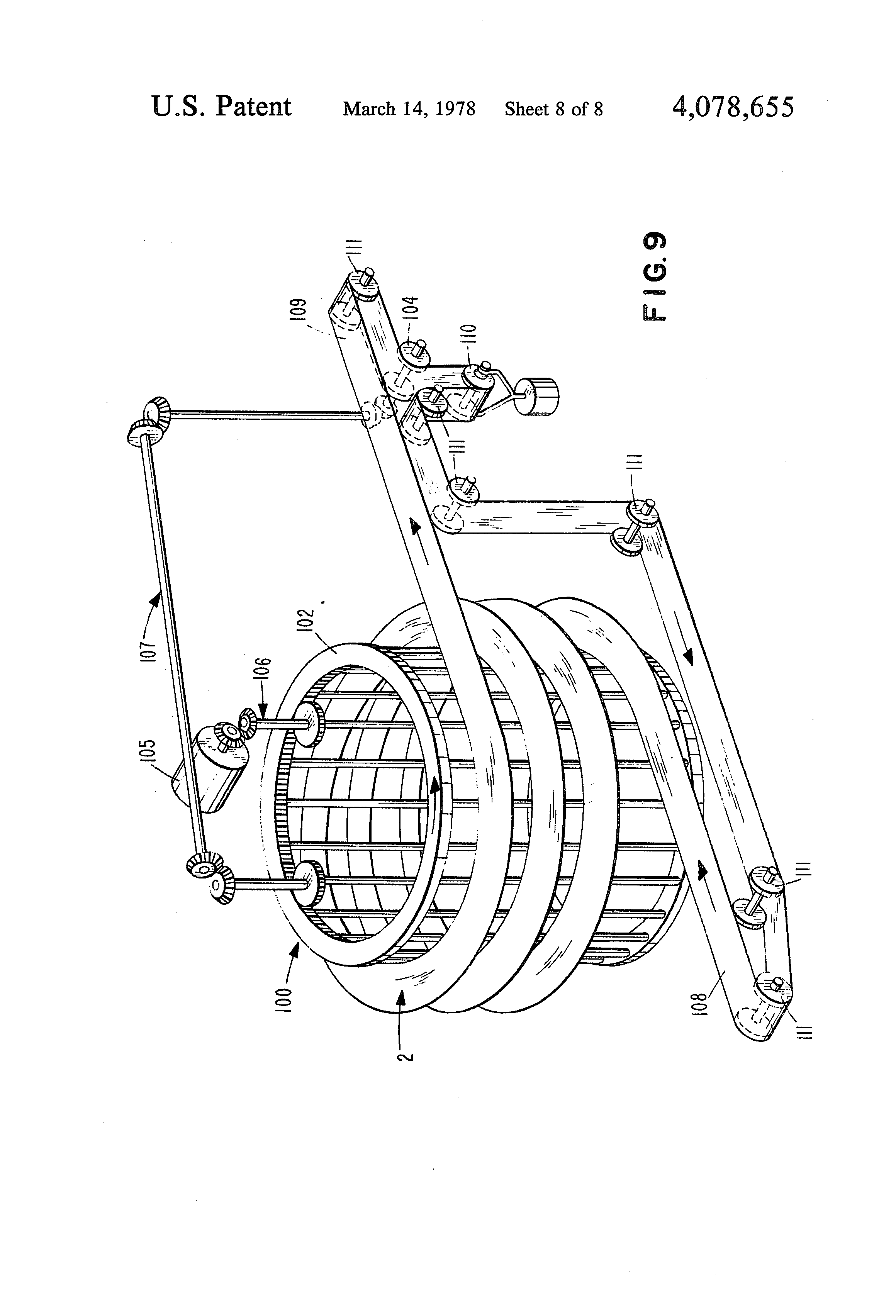 Patent Us4078655 Small Radius Conveyor Belt And Conveying System Daiwa Schematic Diagram Free Download Wiring Drawing