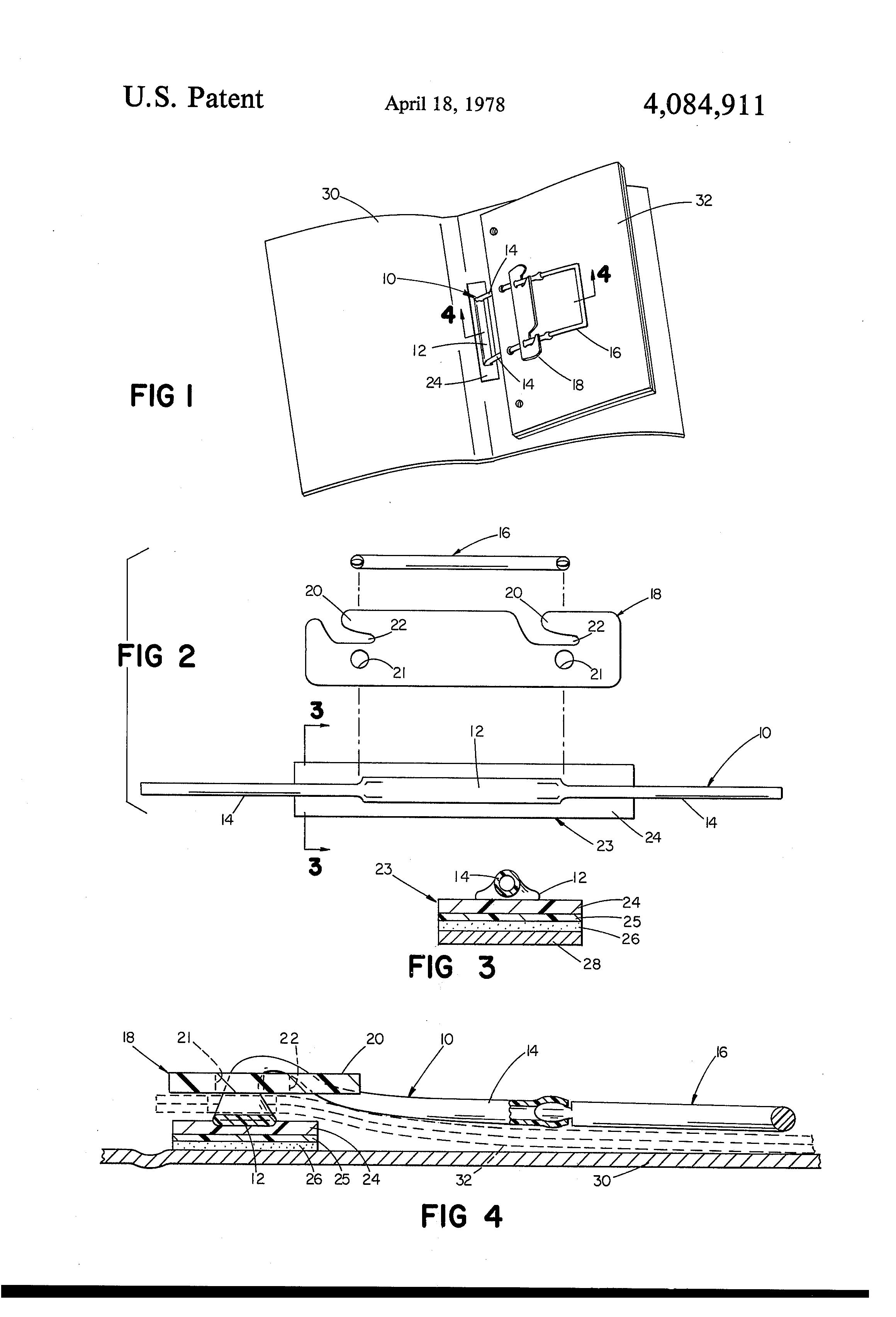 Patent Us4084911 Flexible Paper Fastener Google Patents