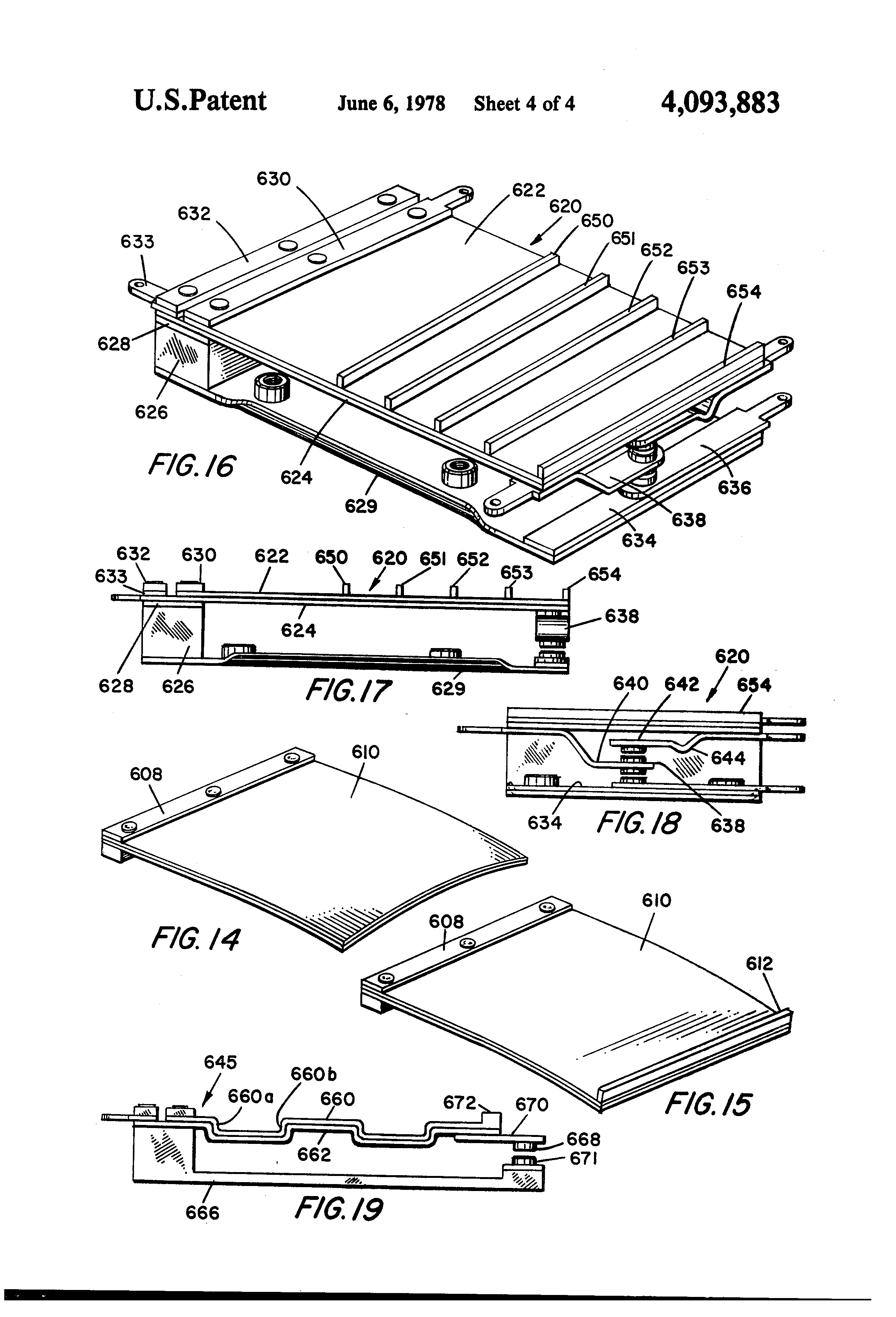 patent us4093883 piezoelectric multimorph switches Triac Symbol patent drawing