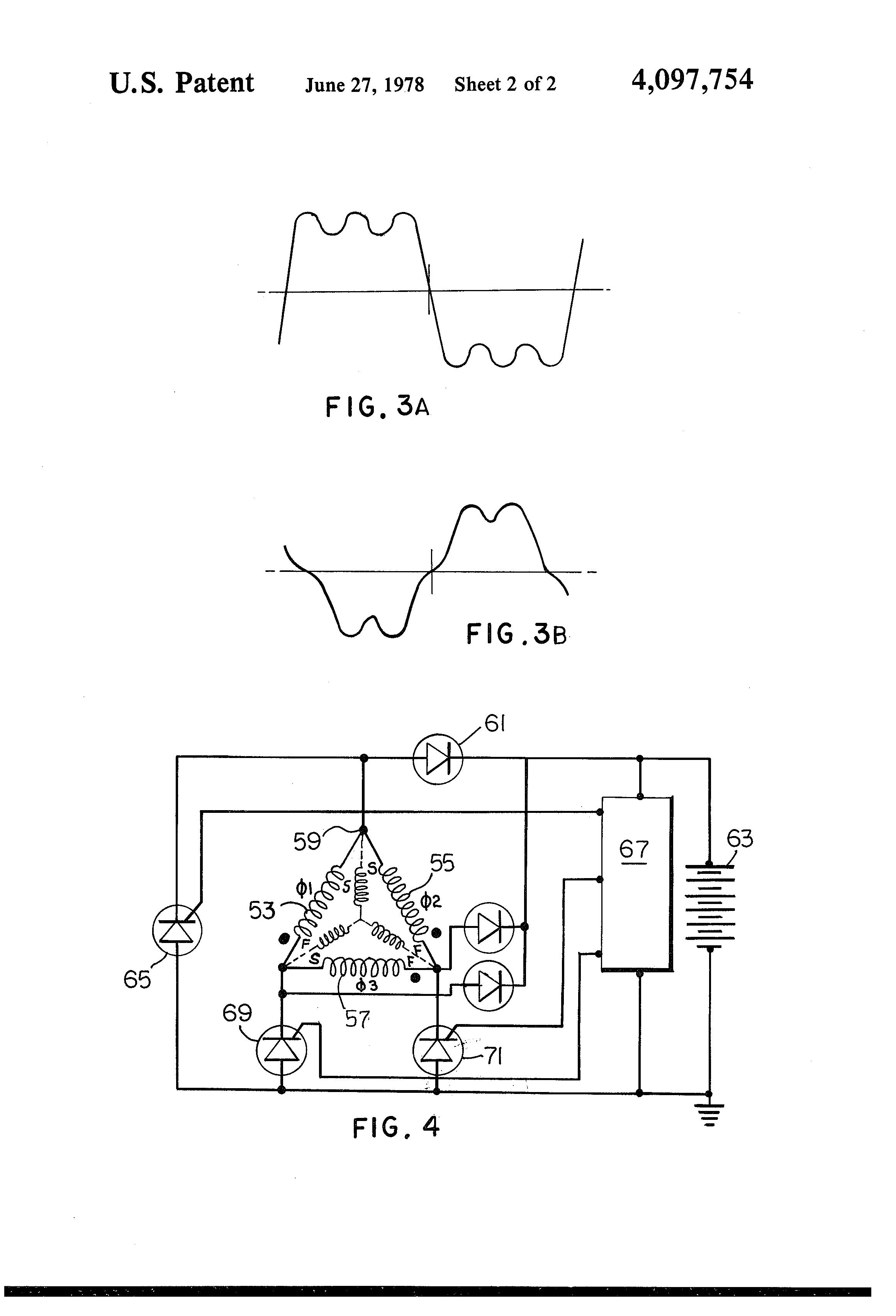 Patent Us4097754 Short Pitch Alternator Google Patents