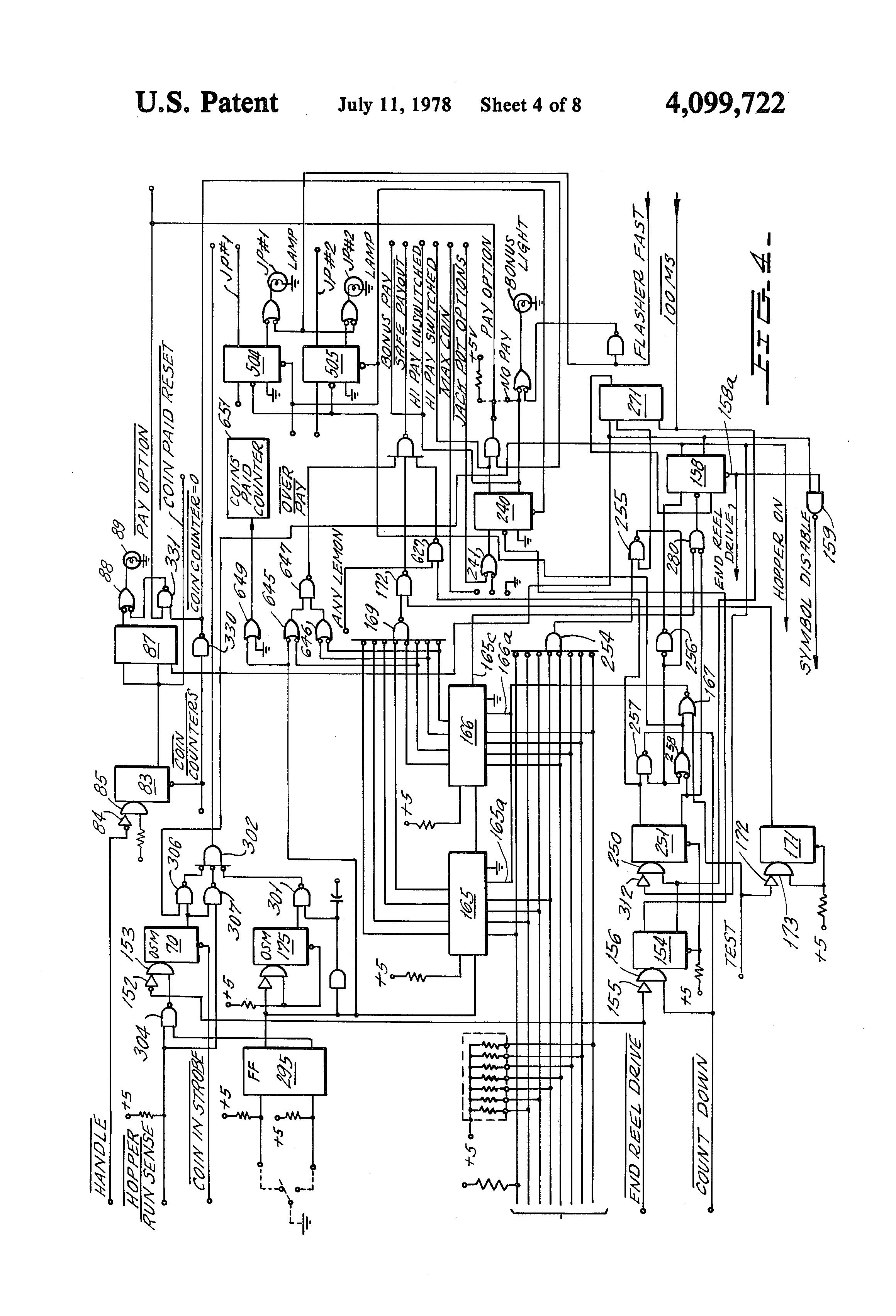Patent Us4099722 Electronic Slot Machine Google Patents