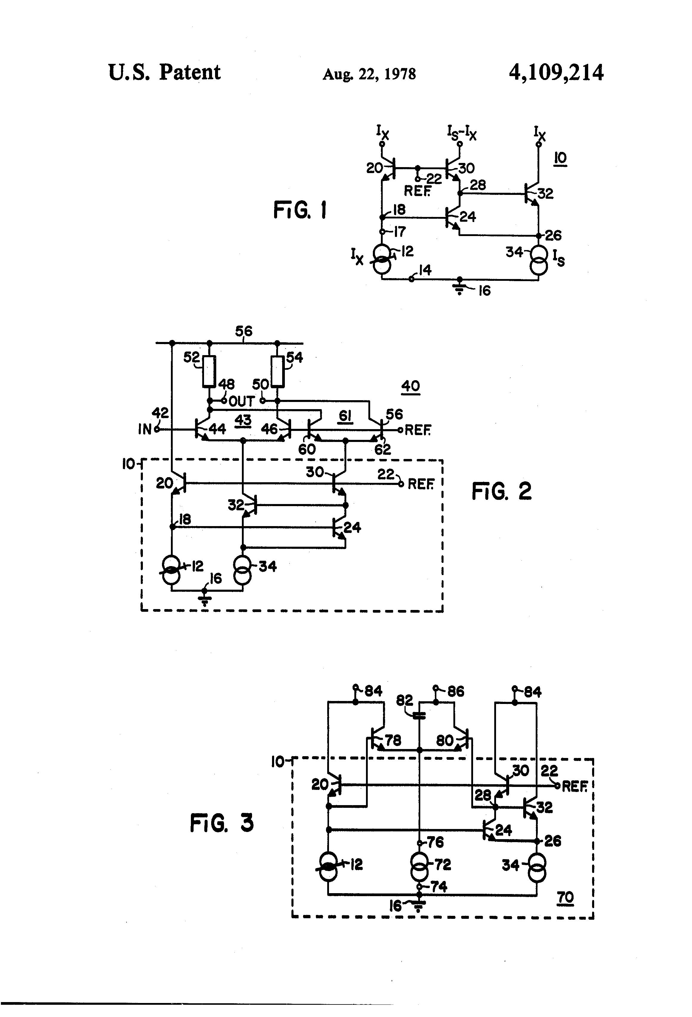 patent us4109214 - unbalanced-to-balanced signal converter circuit