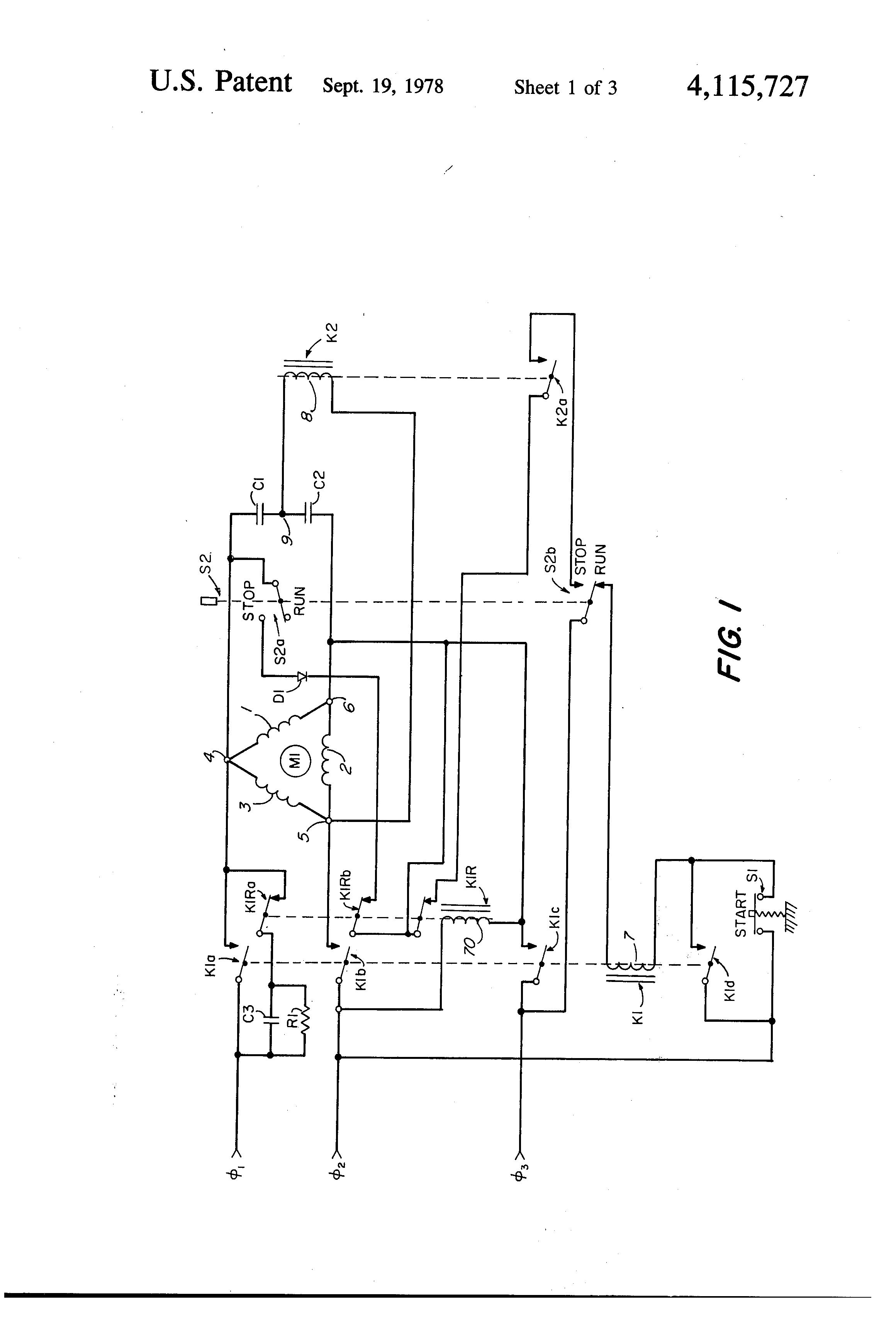 Patent Us4115727 Braking System For Three Phase Motors