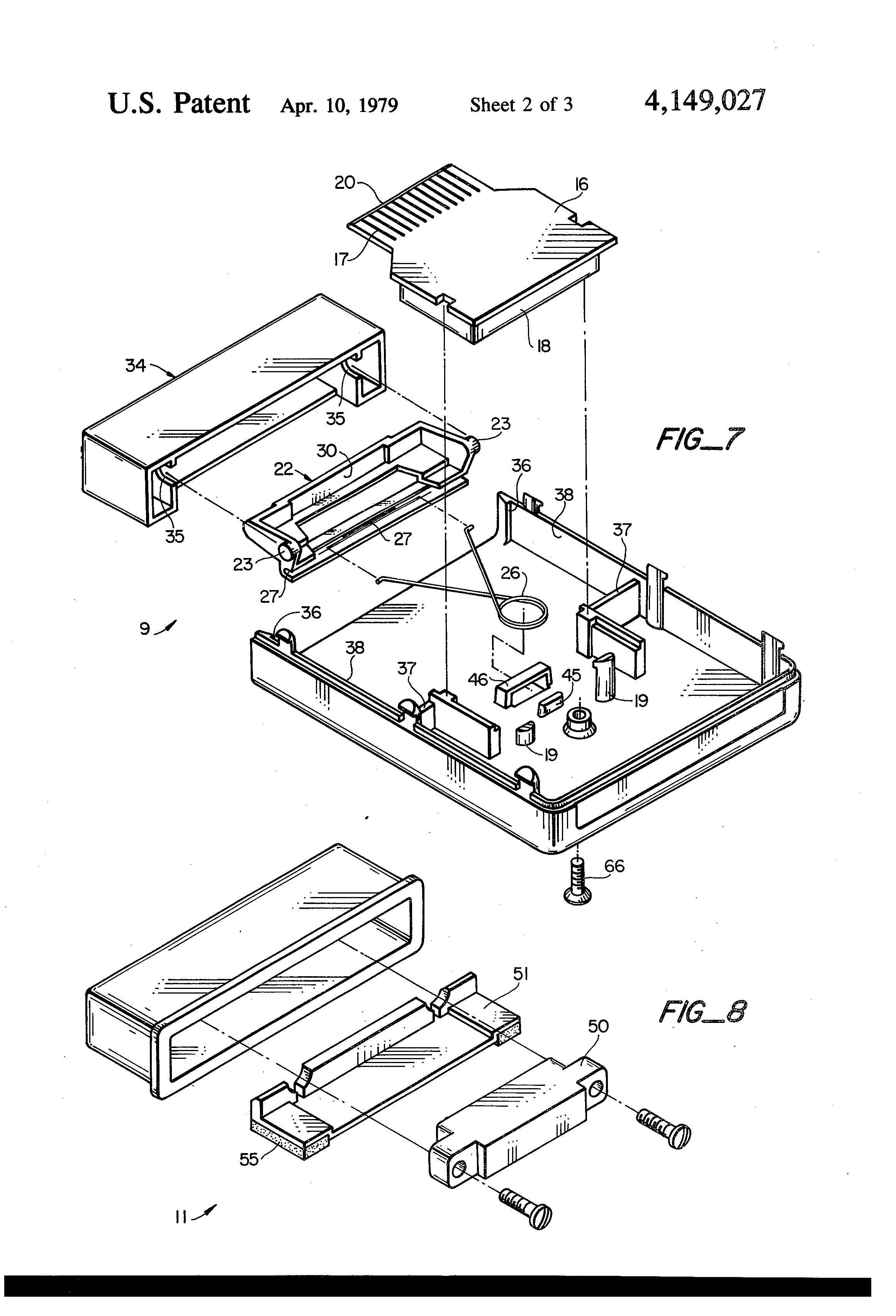patent us4149027 - tv game cartridge and method