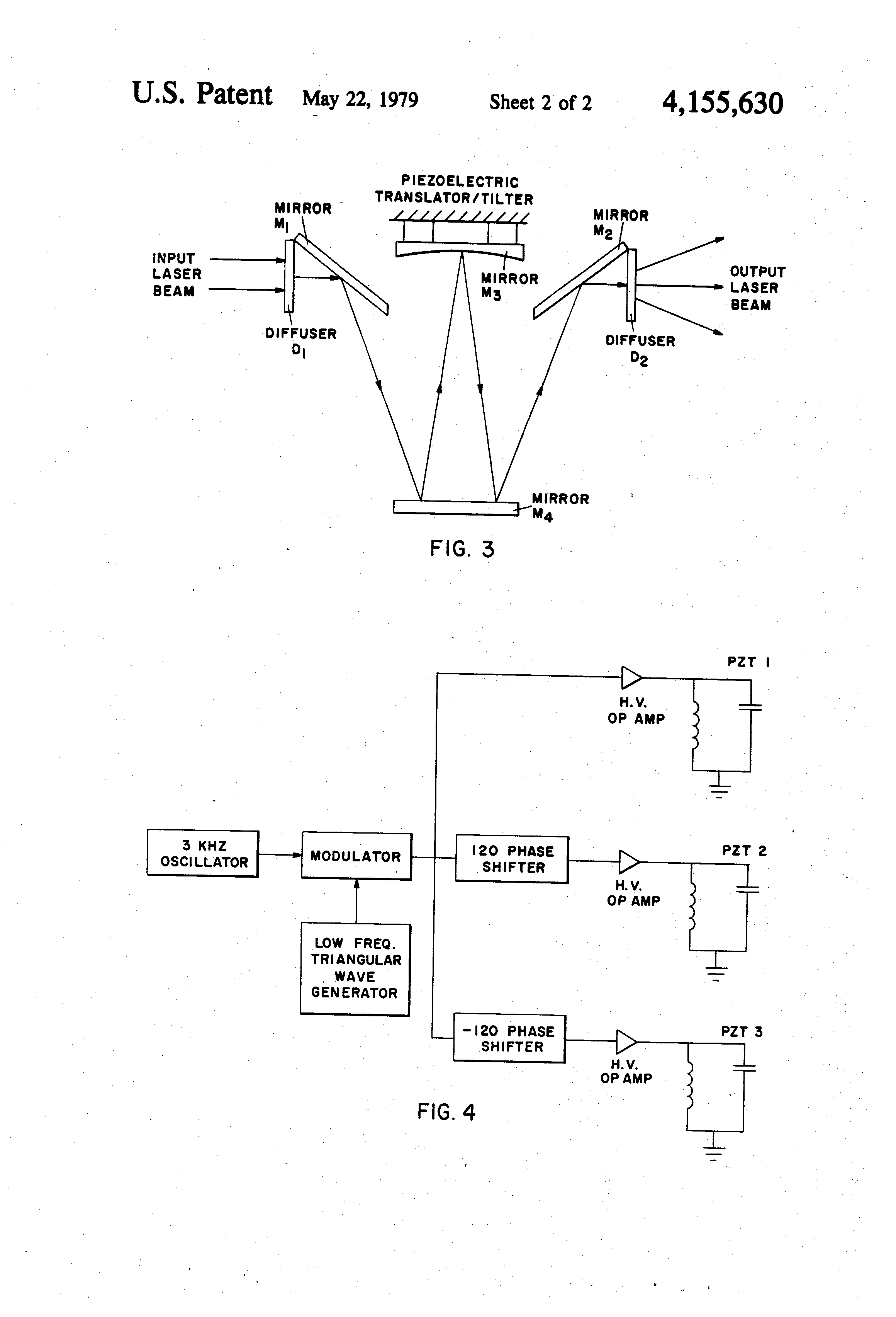 Patent Us4155630 Speckle Elimination By Random Spatial Phase Triangular Wave Generator Drawing