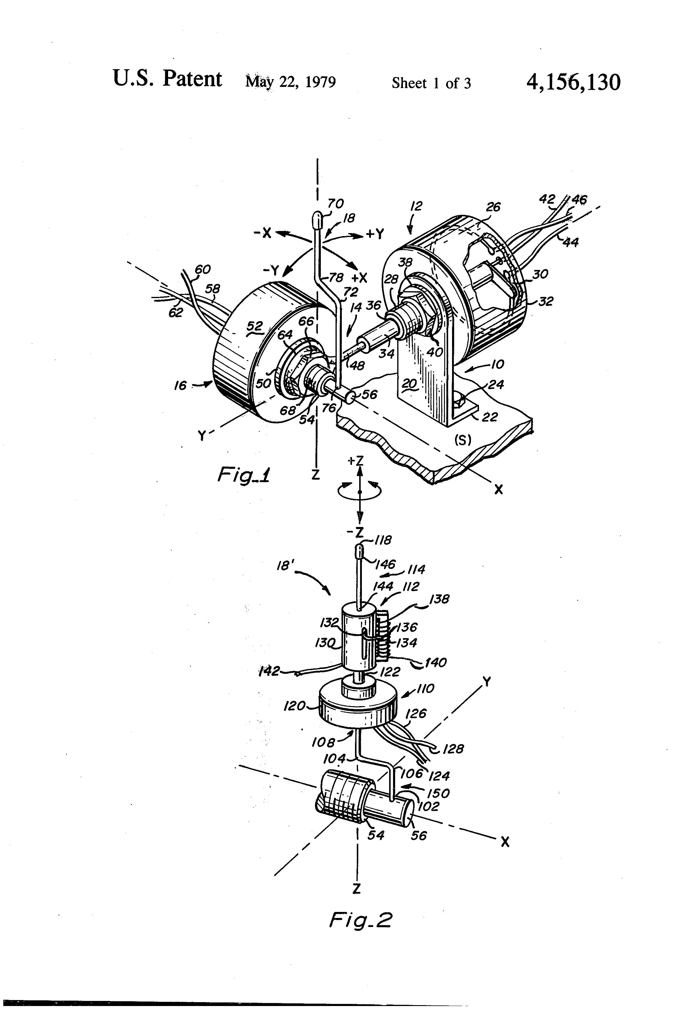 patent us4156130 - joystick mechanism