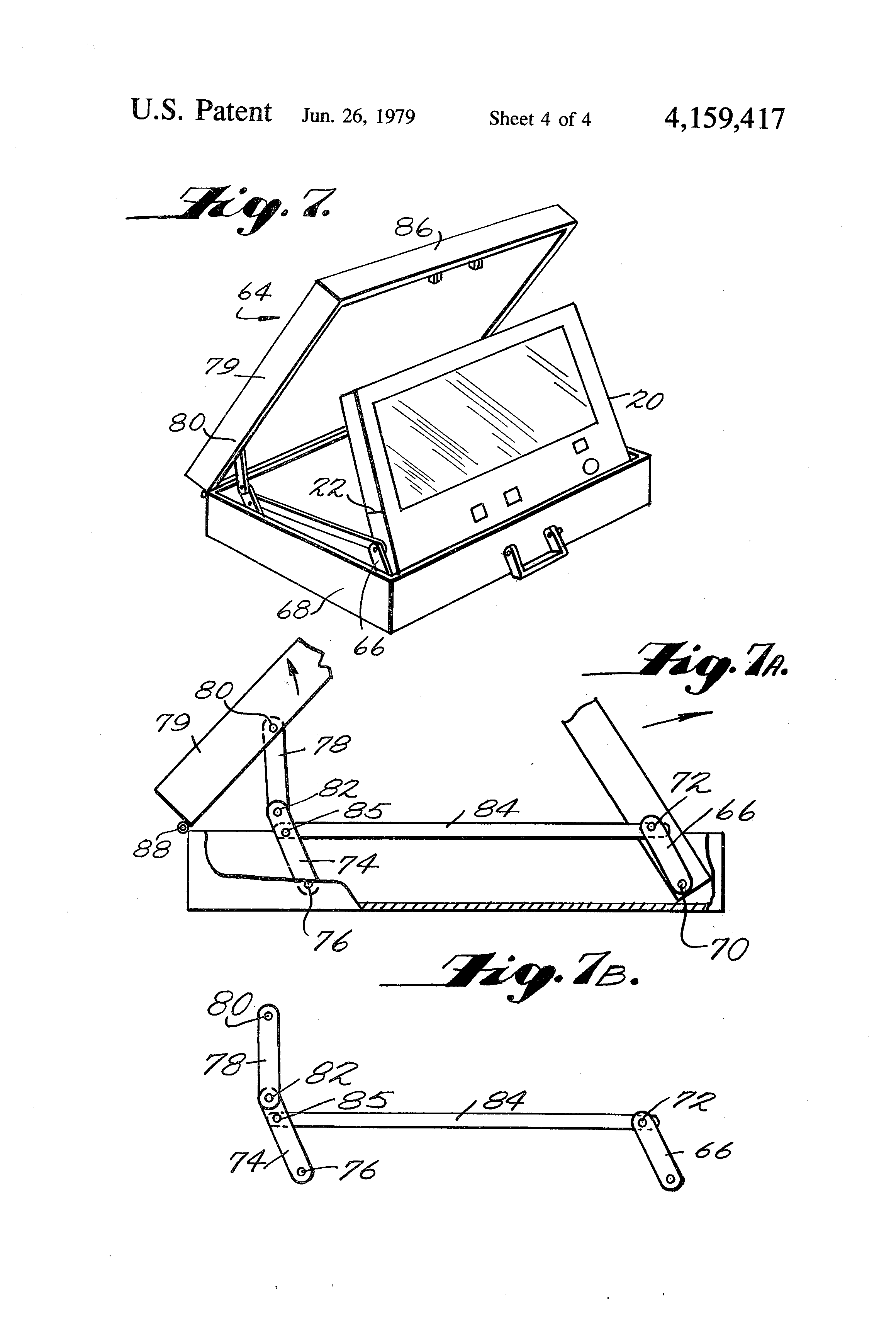 patent us4159417 - electronic book