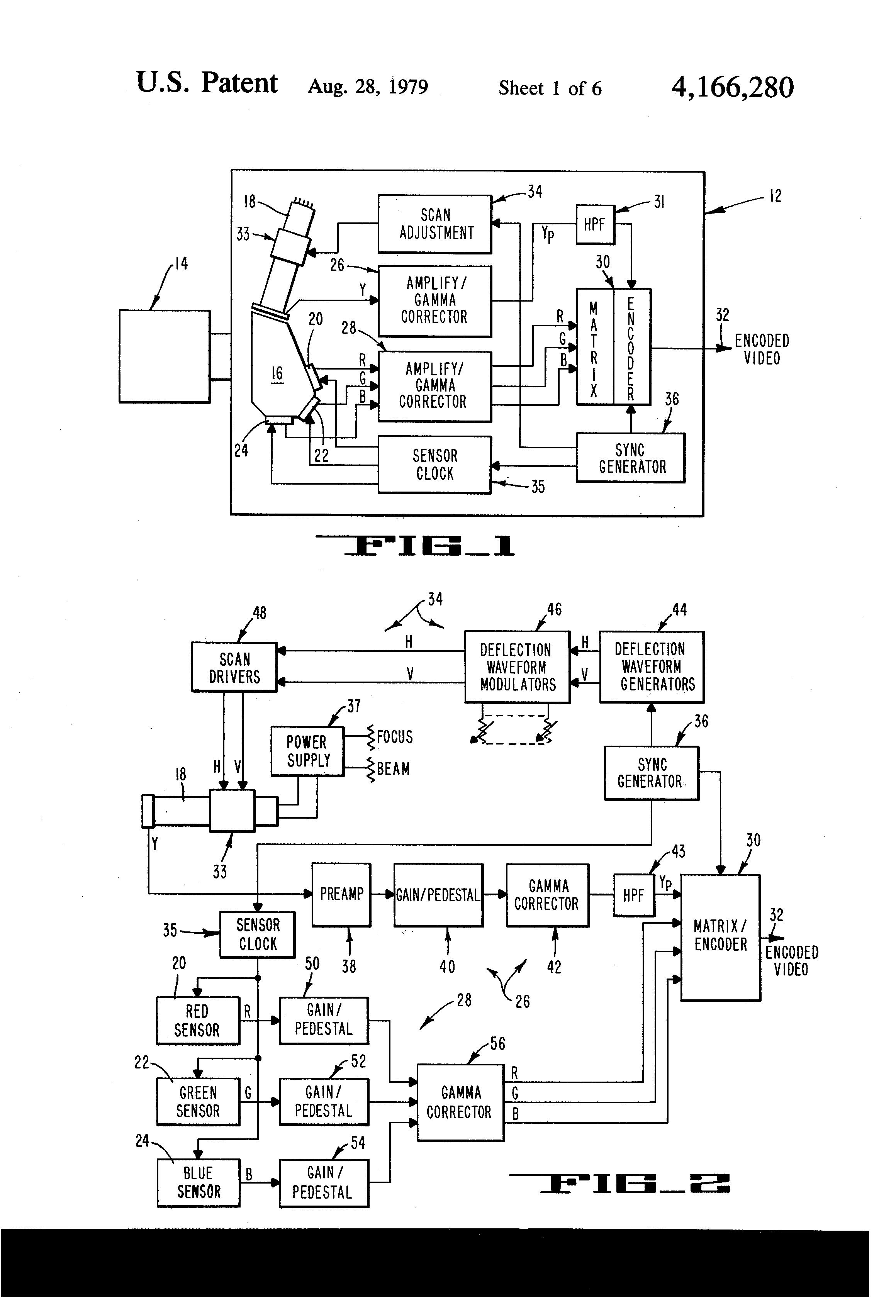 Patent Us4166280 High Performance Television Color Camera Likewise Digital Clock Circuit Diagram On Nixie Schematic Drawing