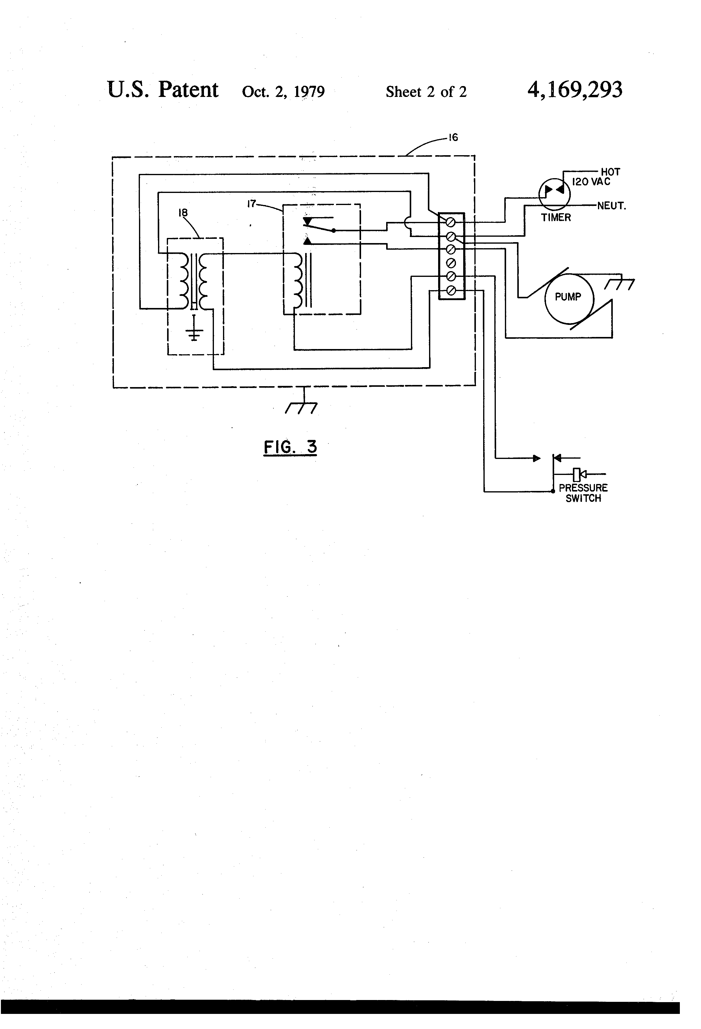 Patent Us4169293 Hydrotherapy Vessel Level Control Google Barnes Pump Wiring Diagram Drawing