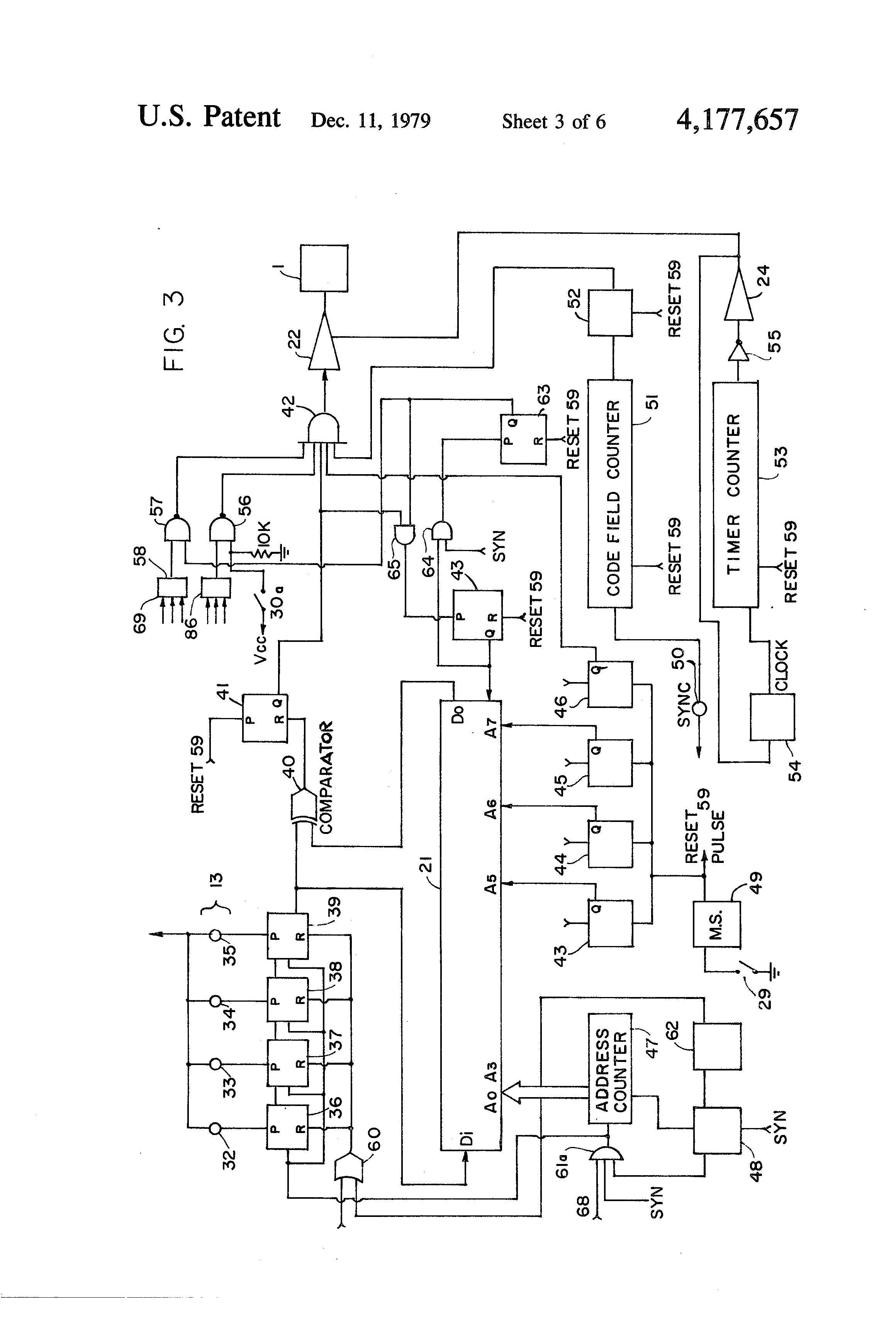 patent us4177657 - electronic lock system