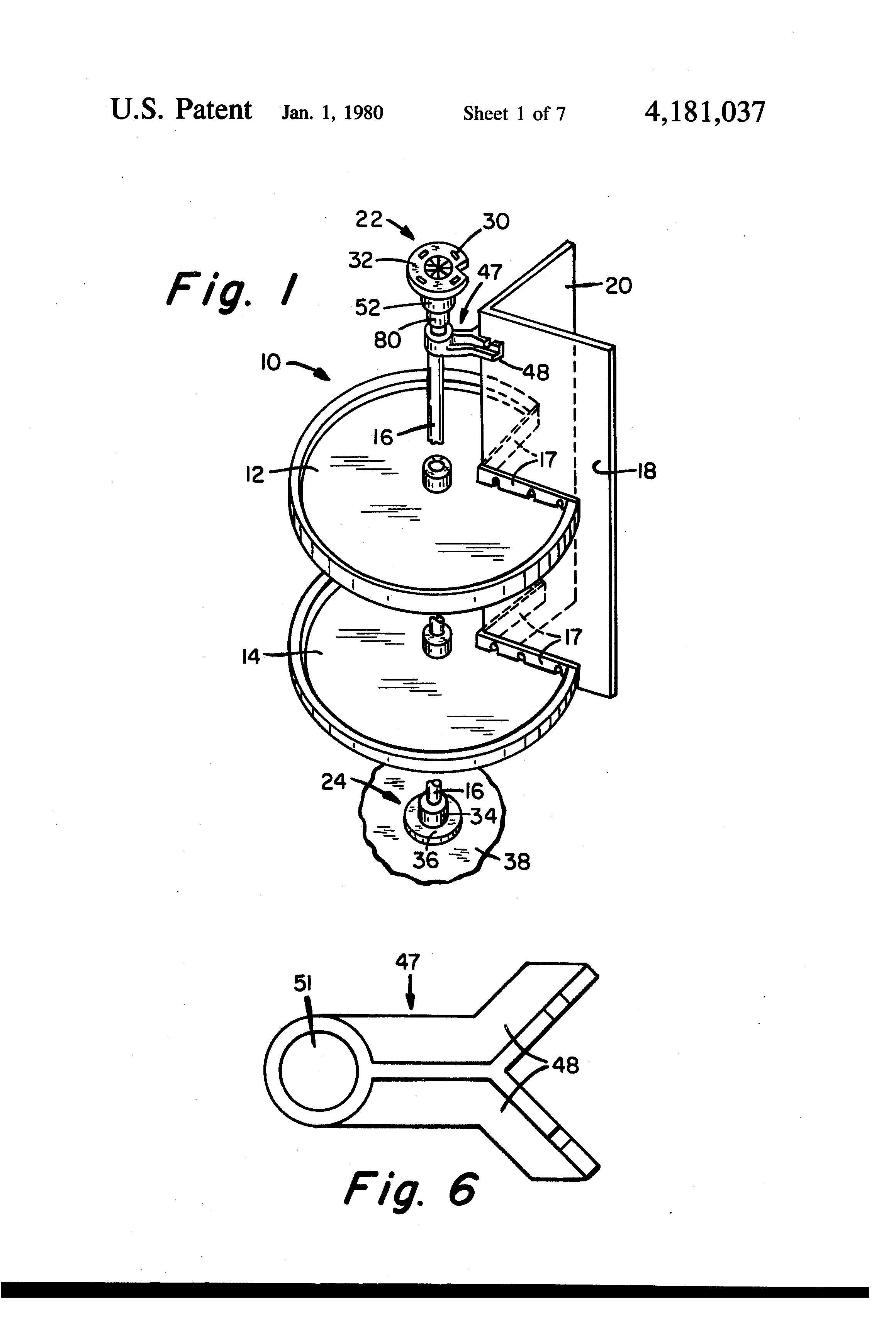 Patent US4181037 - Lazy Susan assembly having an