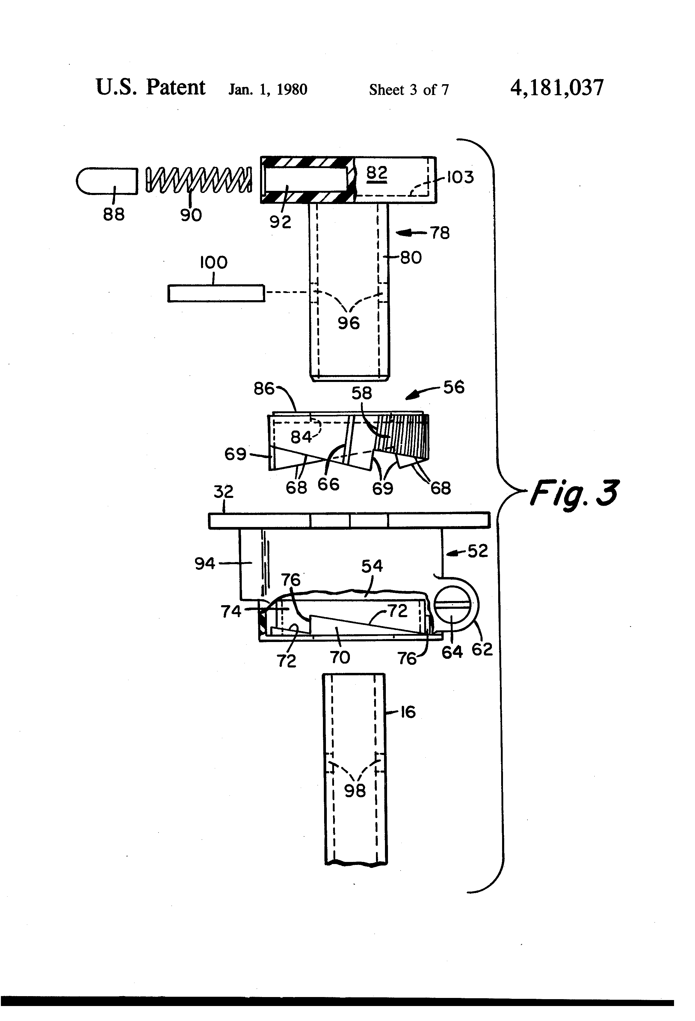Patent Us4181037 Lazy Susan Assembly Having An