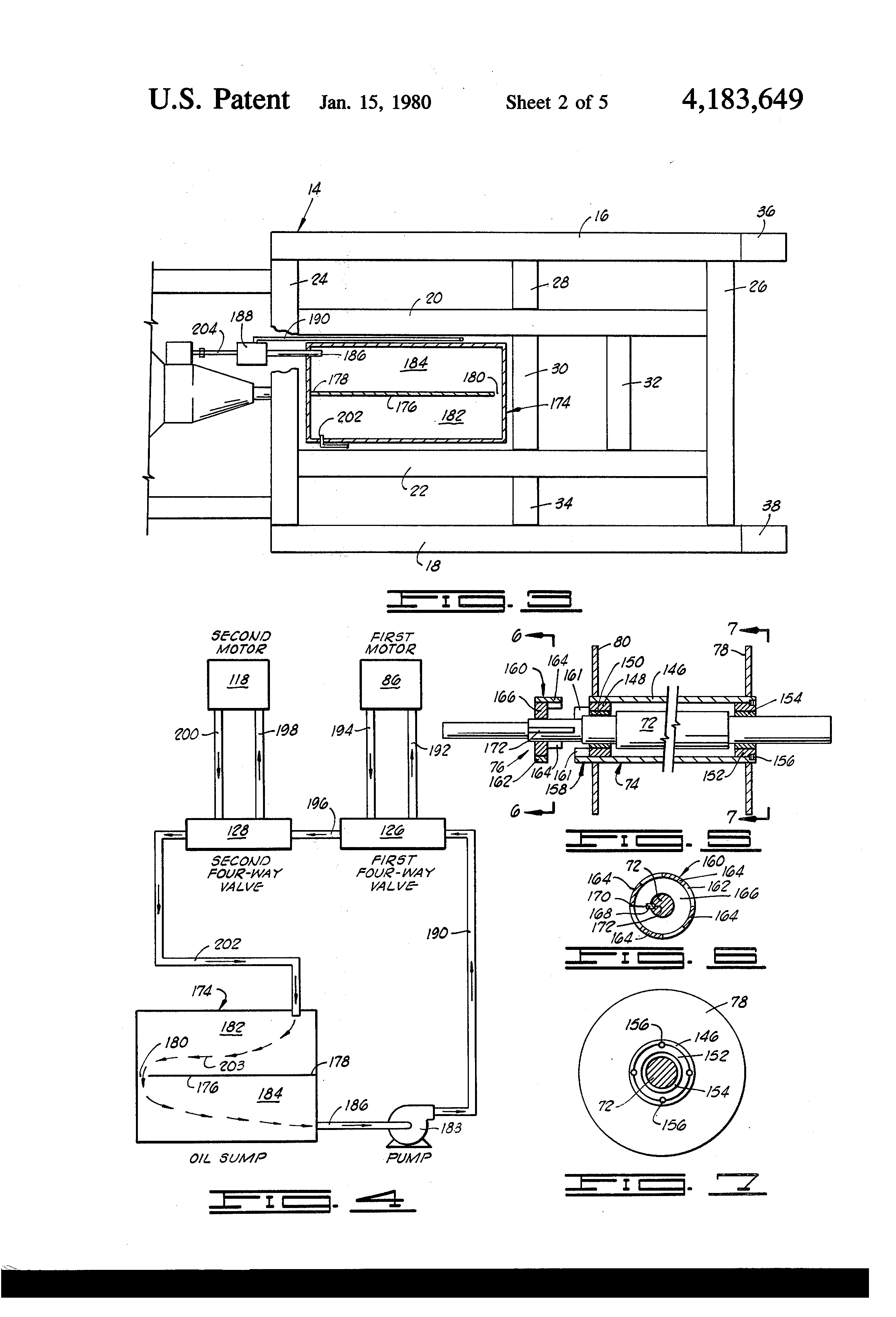 Patent Us4183649 Oil Derrick String Up Apparatus And