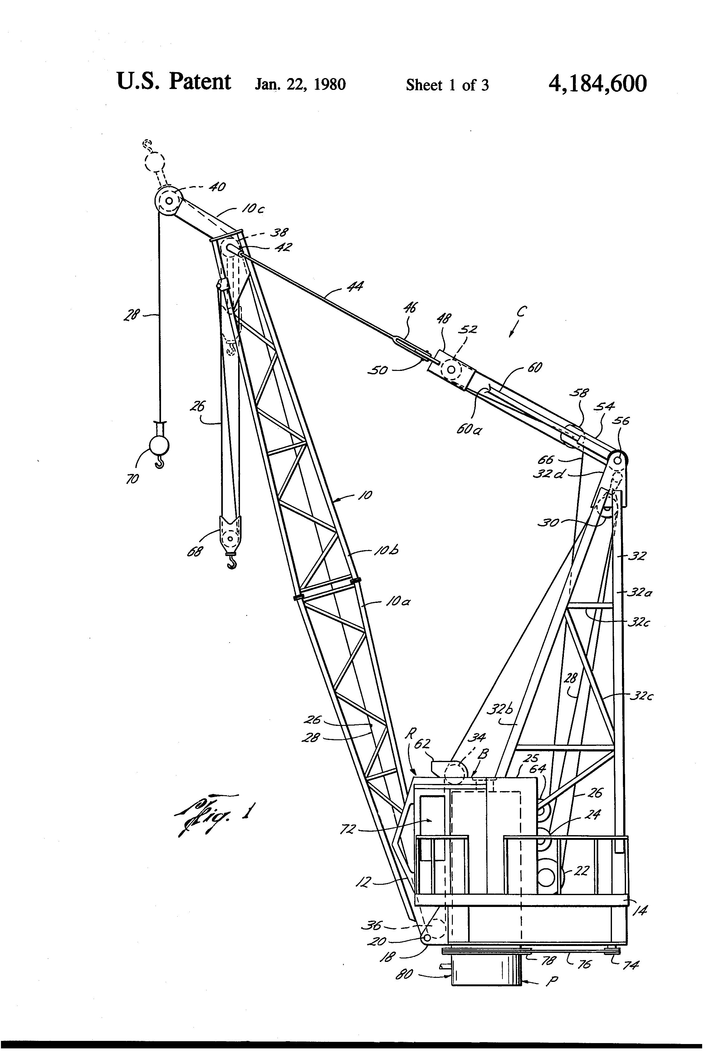 boom crane parts diagram