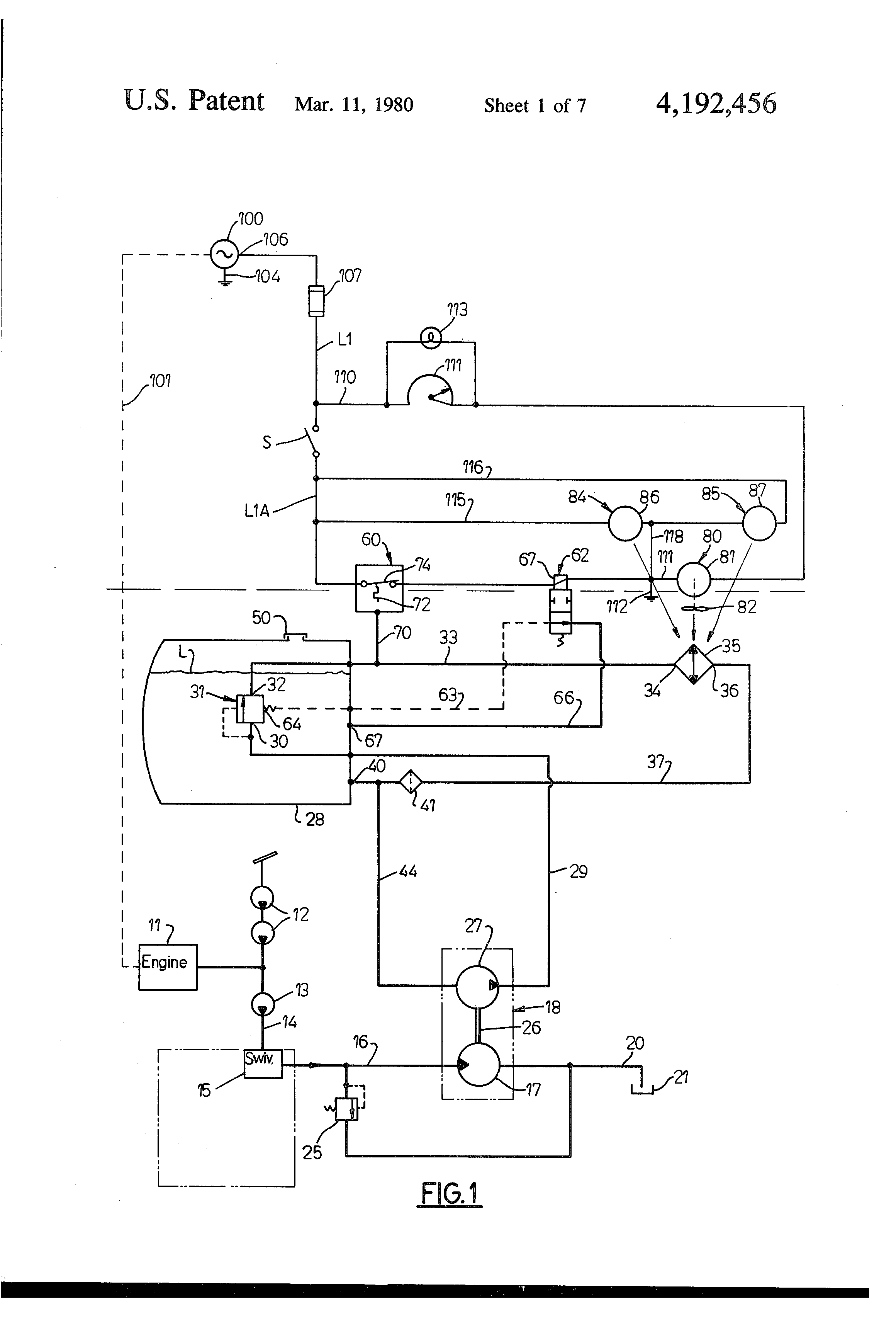 patent us4192456 - heating system for machine operator u0026 39 s cab