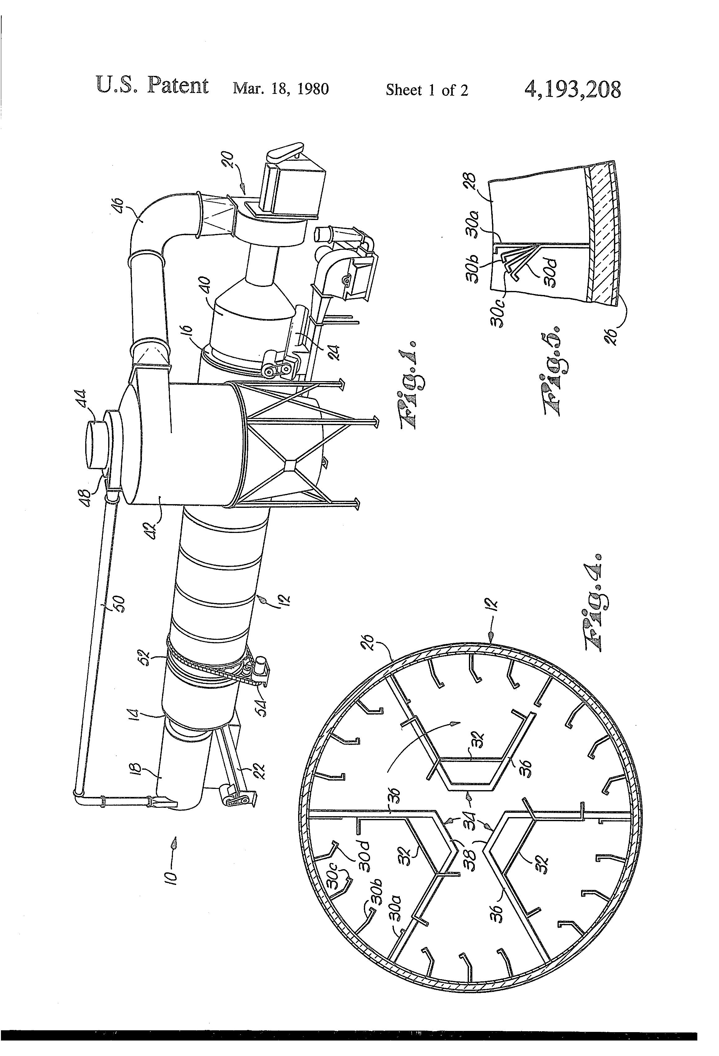 Patent US4193208 - Single pass alfalfa dehydrator dryer and