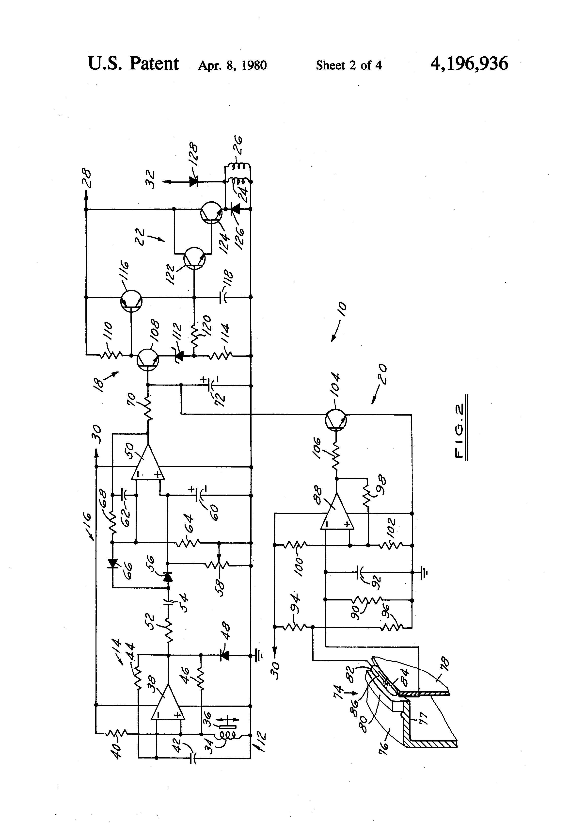 Patent Us4196936 Trailer Brake Control System Google Patents Hayes Wiring Diagram Drawing
