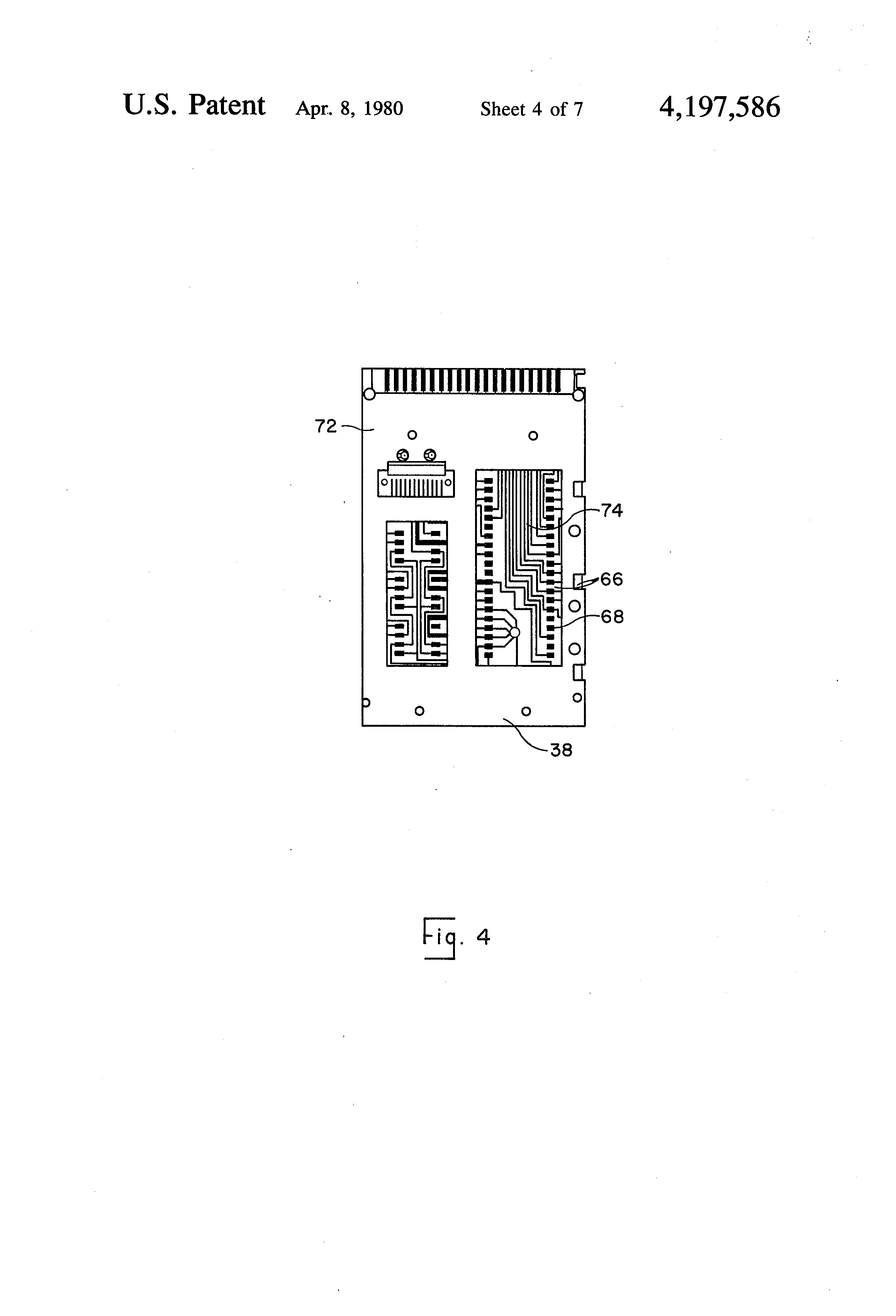 patent us4197586 - electronic calculator assembly