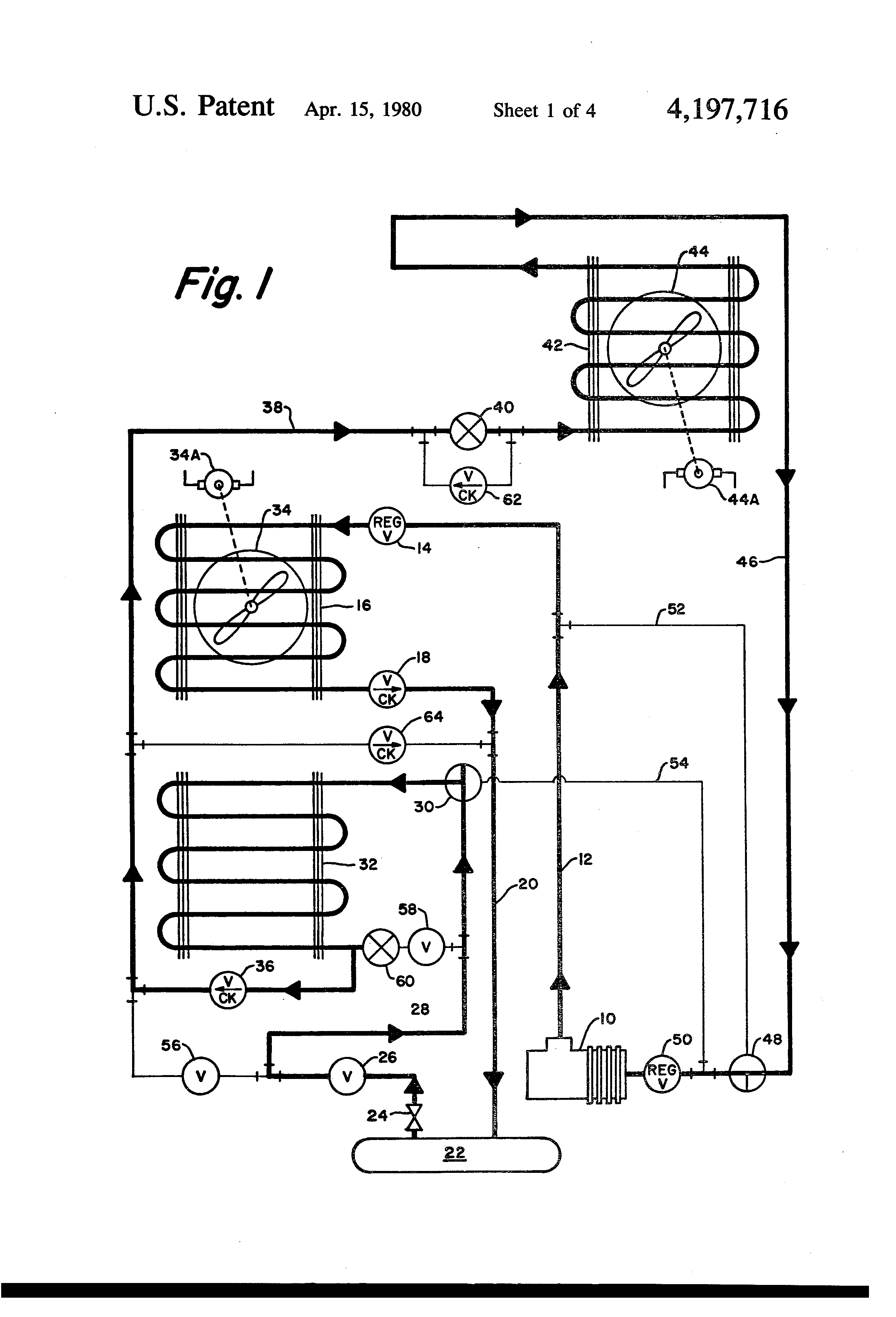 Patent Us4197716 Refrigeration System With Auxiliary Heat Mcquay Snyder Three Phase Wiring Diagram Drawing