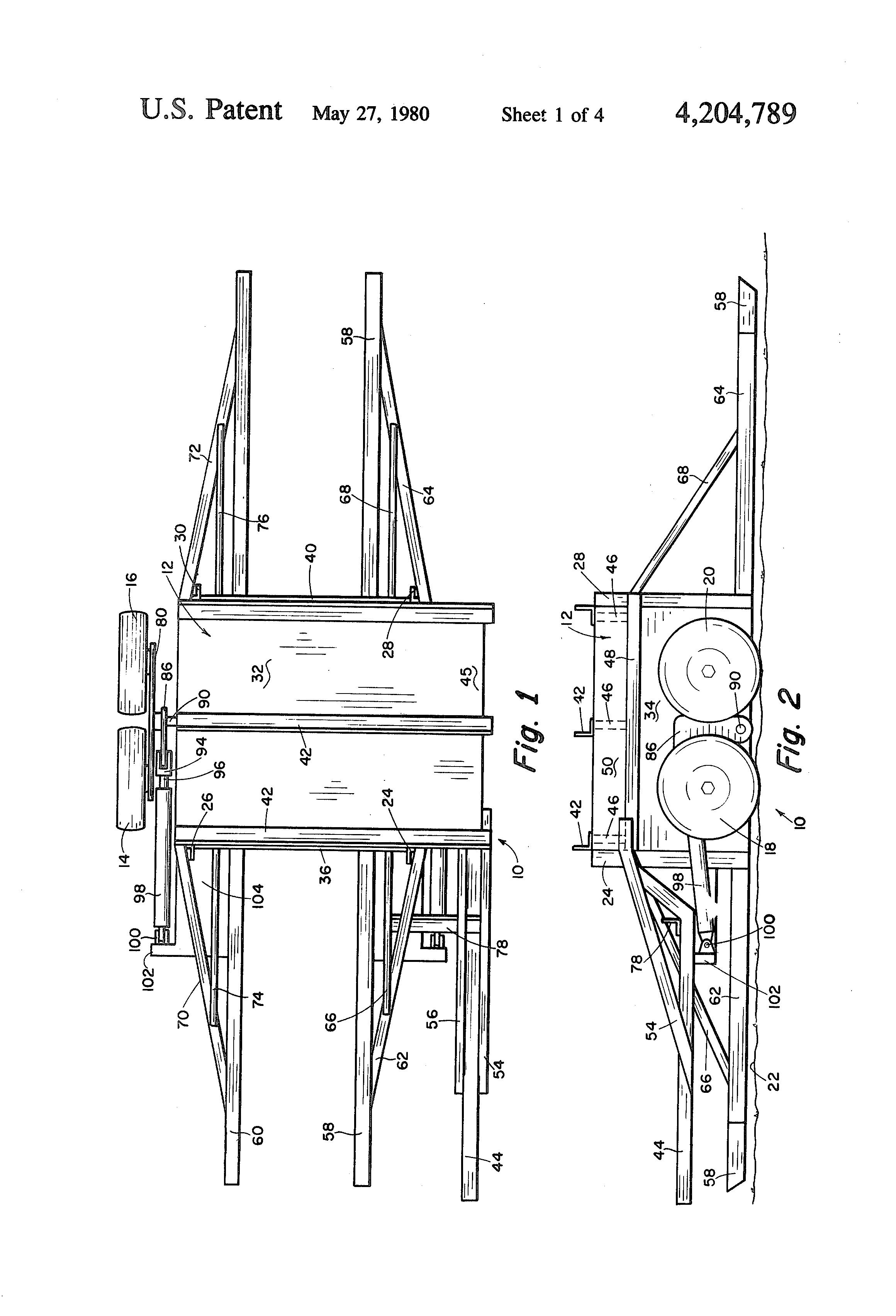 Patente US4204789 - Pass through hay bale retriever - Google Patentes
