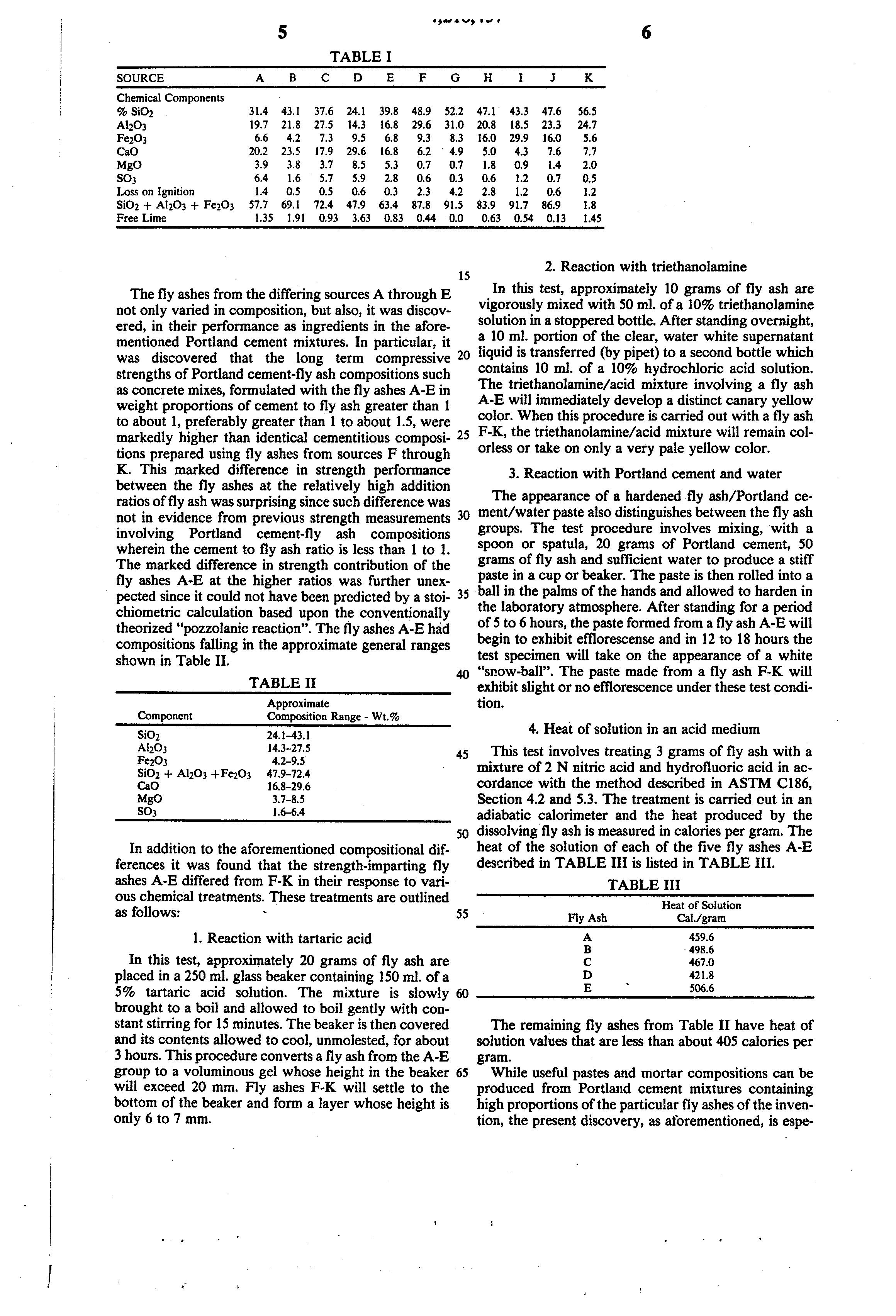 Portland Cement Composition : Patent us portland cement fly ash aggregate
