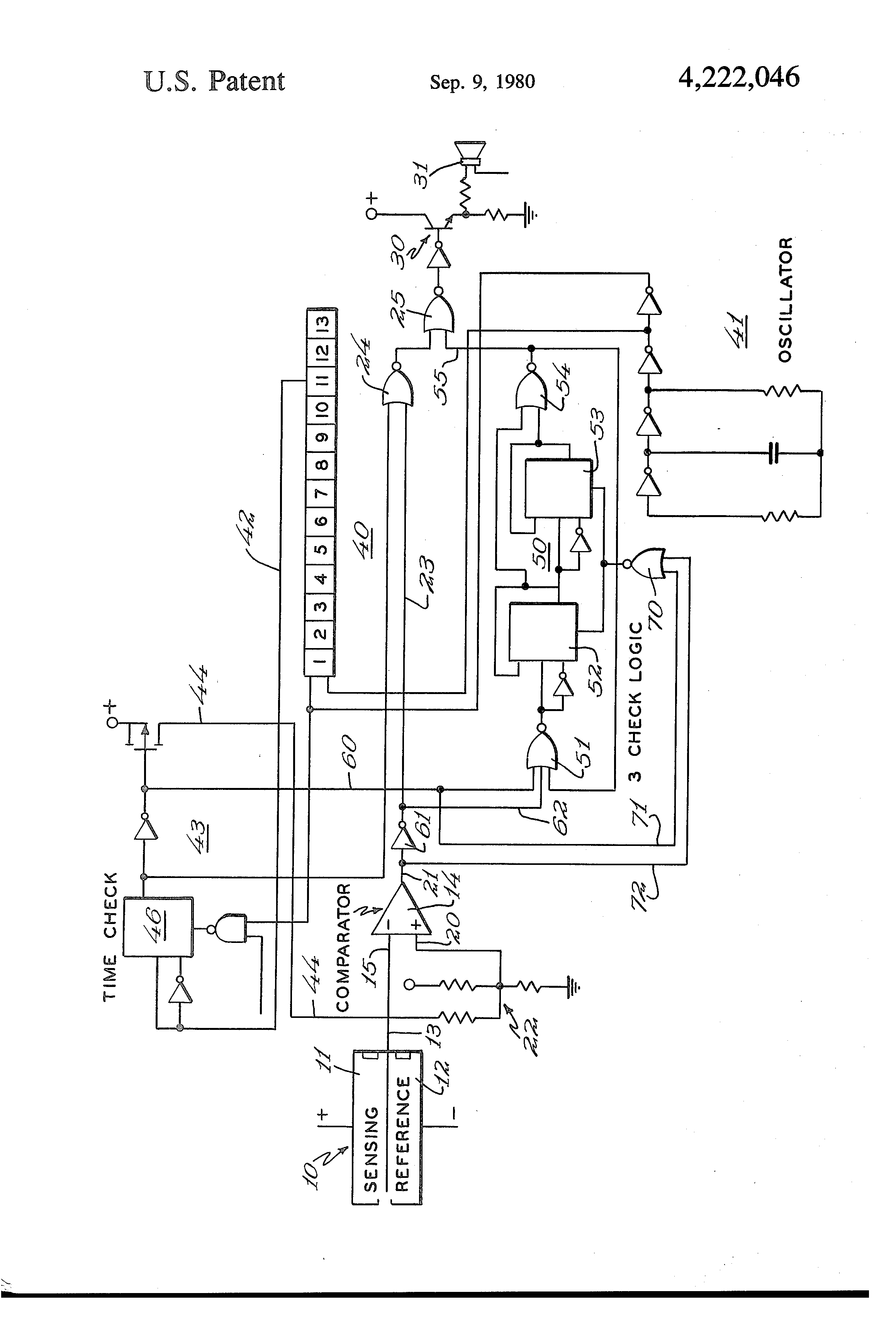 Smoke Detector Circuit Diagram Including Patent Us4792797 Us4222046 Abnormal Condition Responsive Means With Periodic