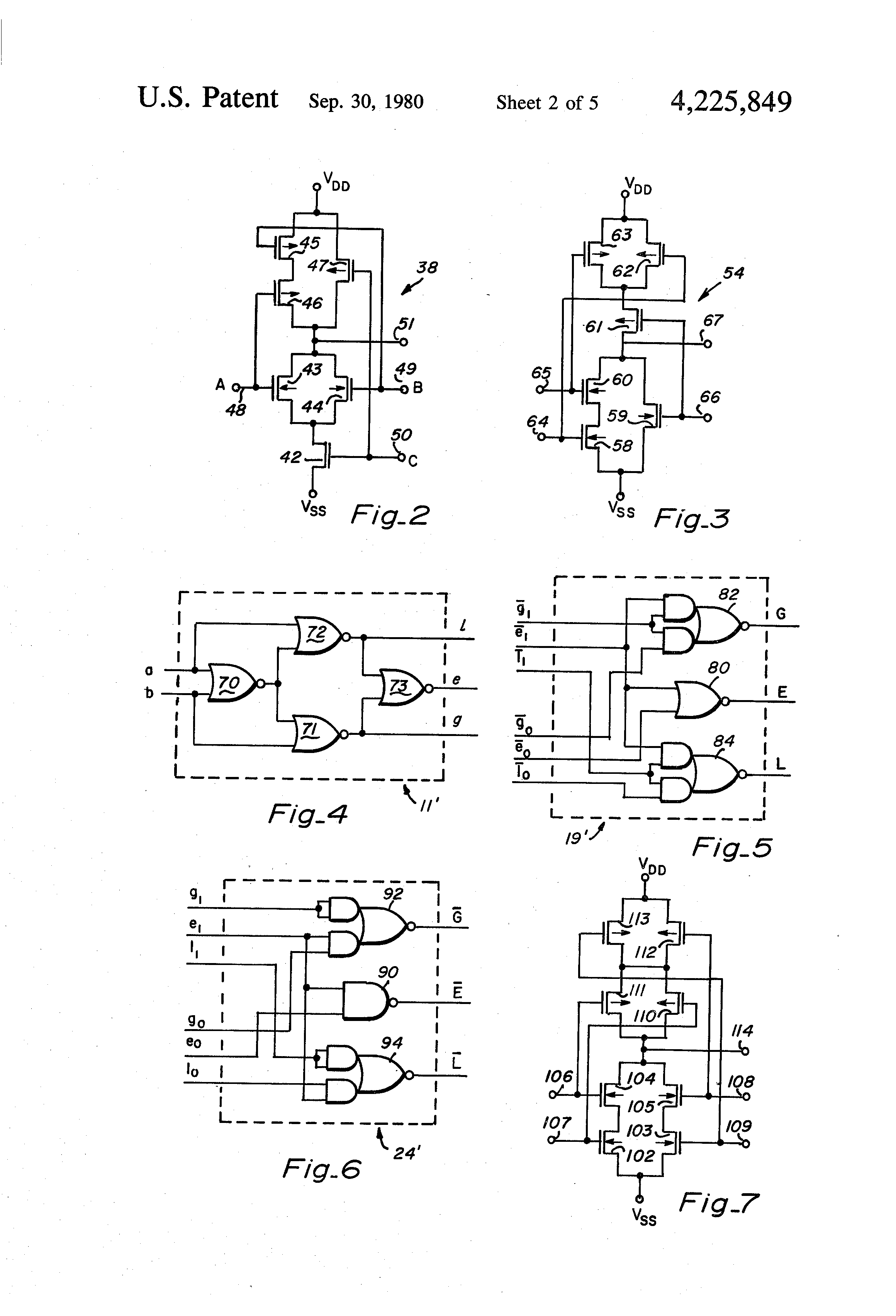 Patent Us4225849 N Bit Magnitude Comparator Of Free