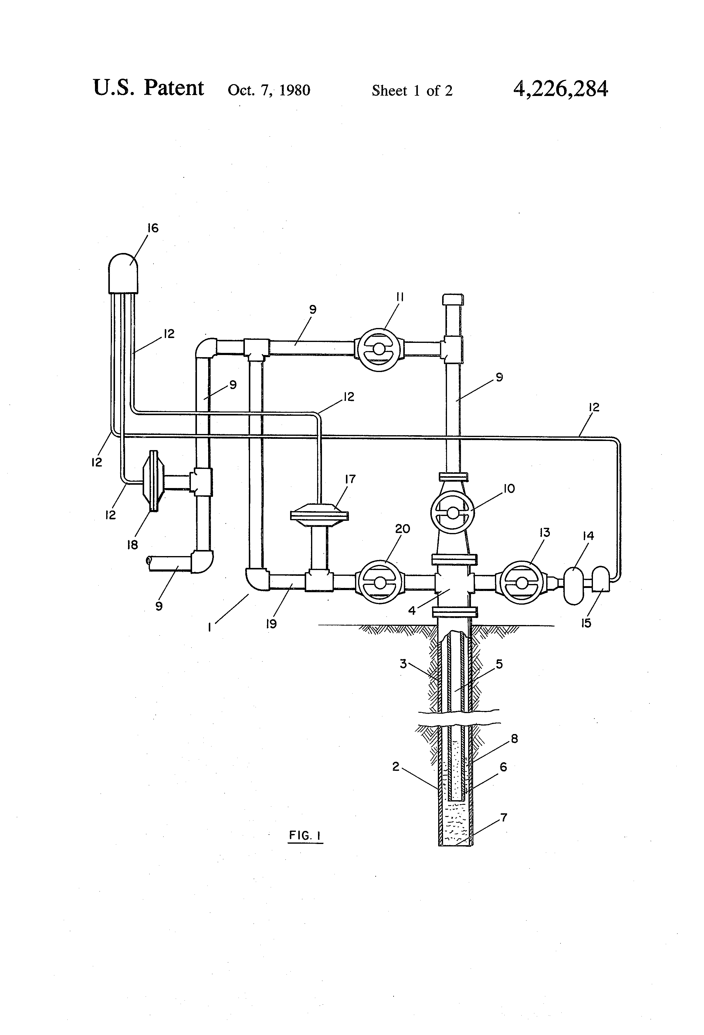 Patent Us4226284 Gas Well Dewatering Method And System Google Schematic Drawing